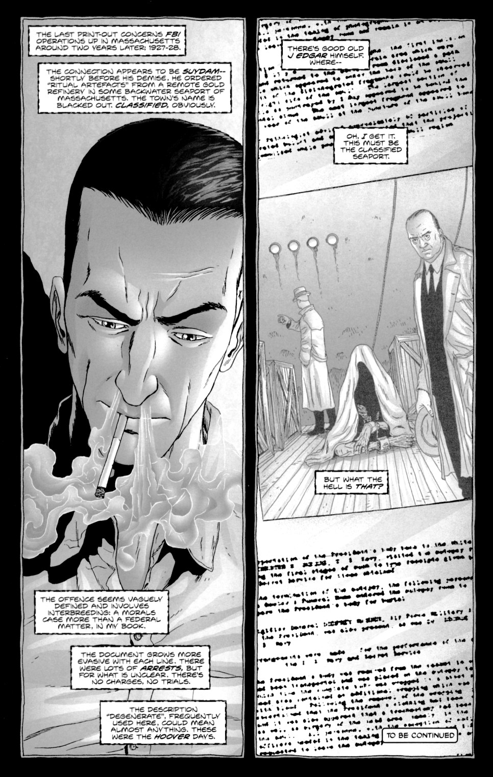 Read online Alan Moore's The Courtyard comic -  Issue #1 - 25