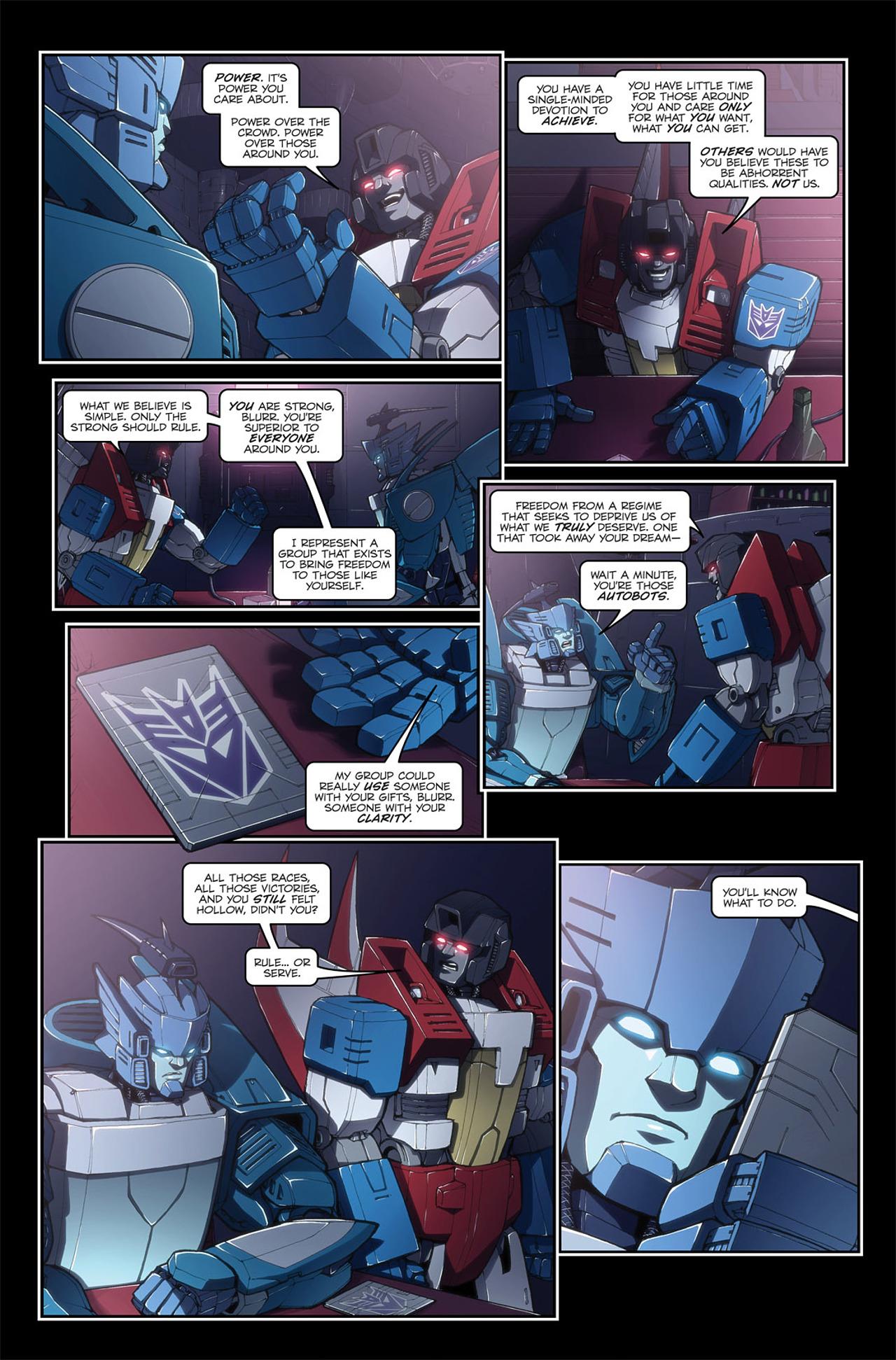 Read online Transformers Spotlight: Blurr comic -  Issue # Full - 17