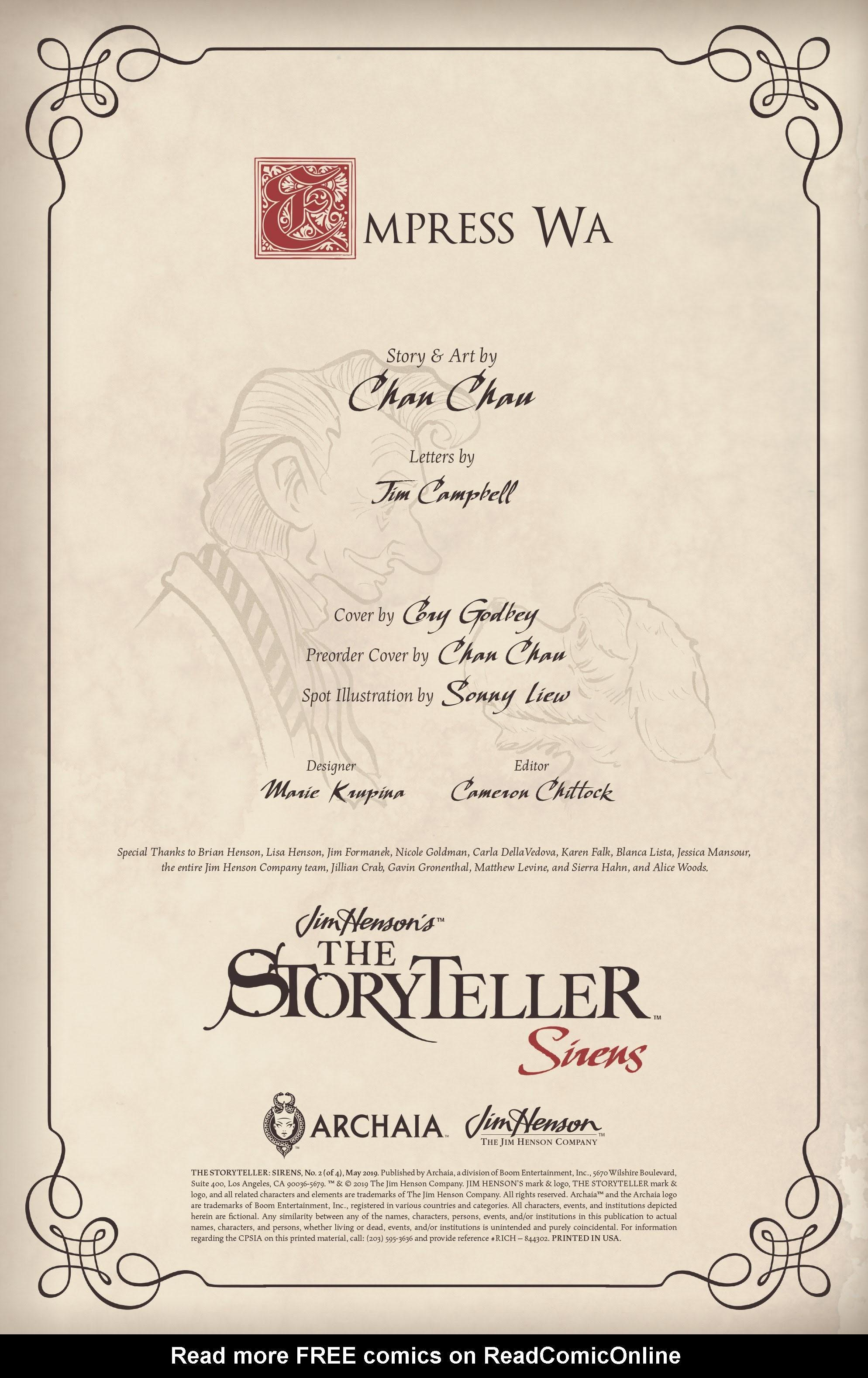 Jim Hensons The Storyteller: Sirens 2 Page 2