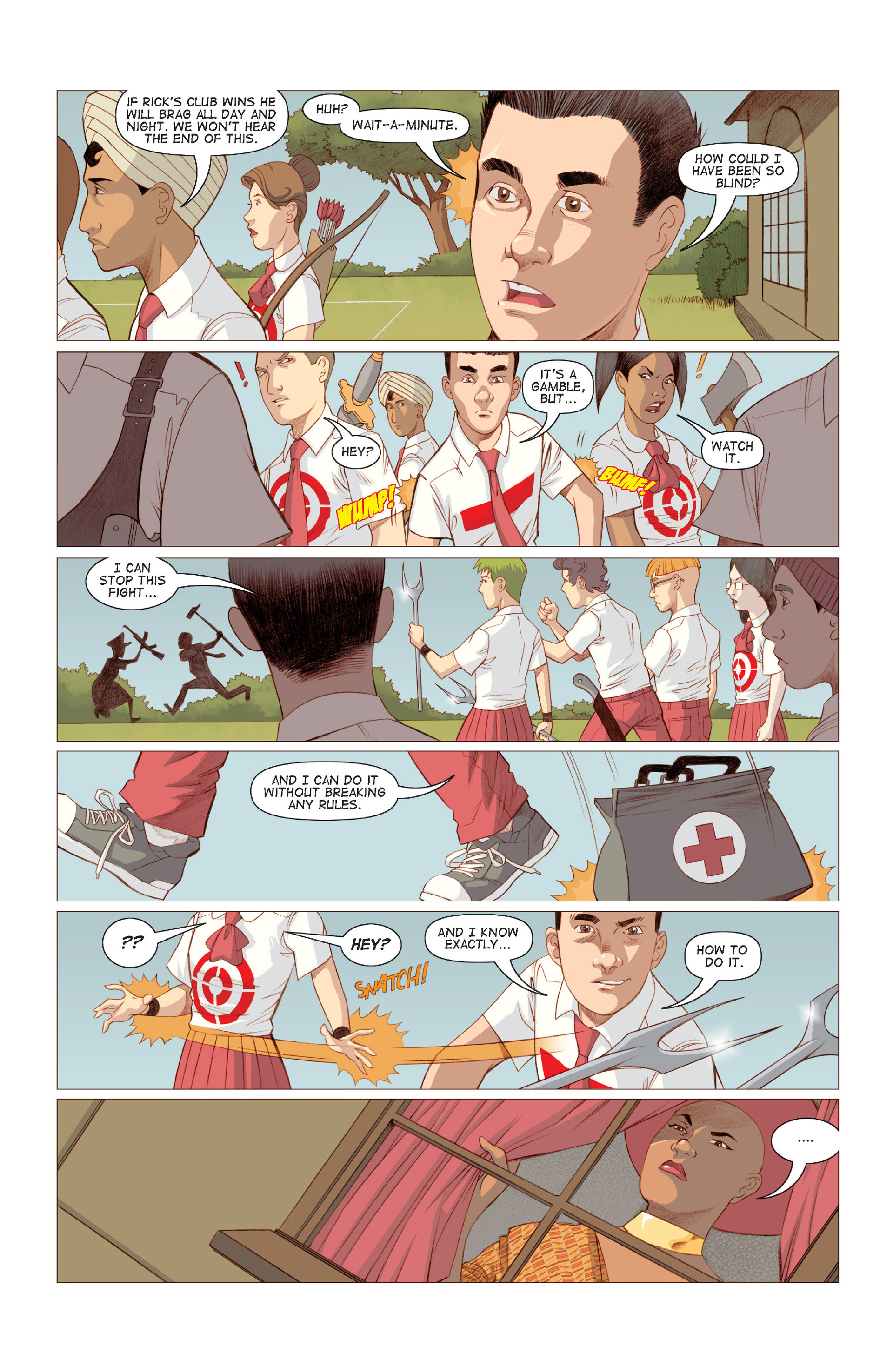 Read online Five Weapons comic -  Issue #6 - 24