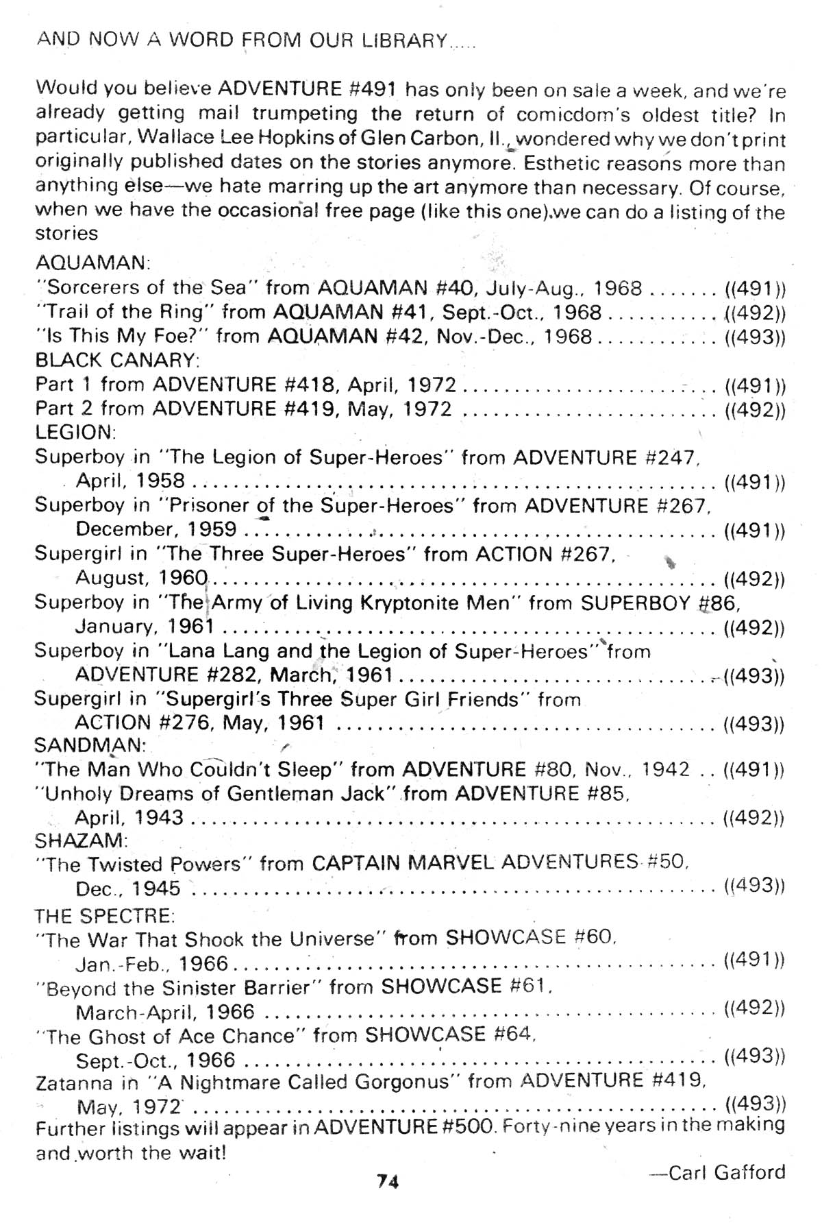 Read online Adventure Comics (1938) comic -  Issue #493 - 74