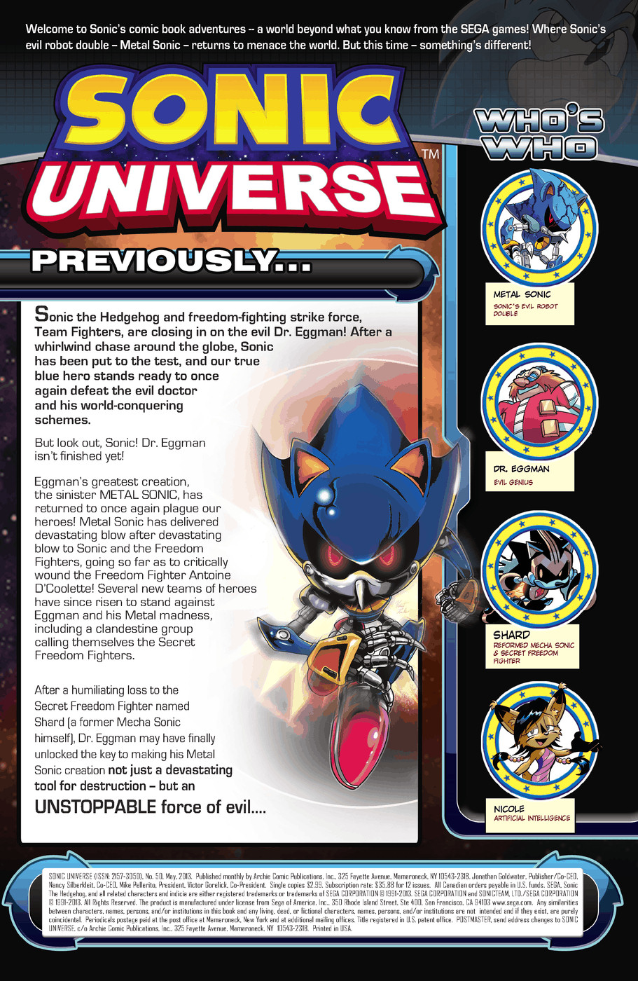 Read online Sonic Universe comic -  Issue #50 - 2