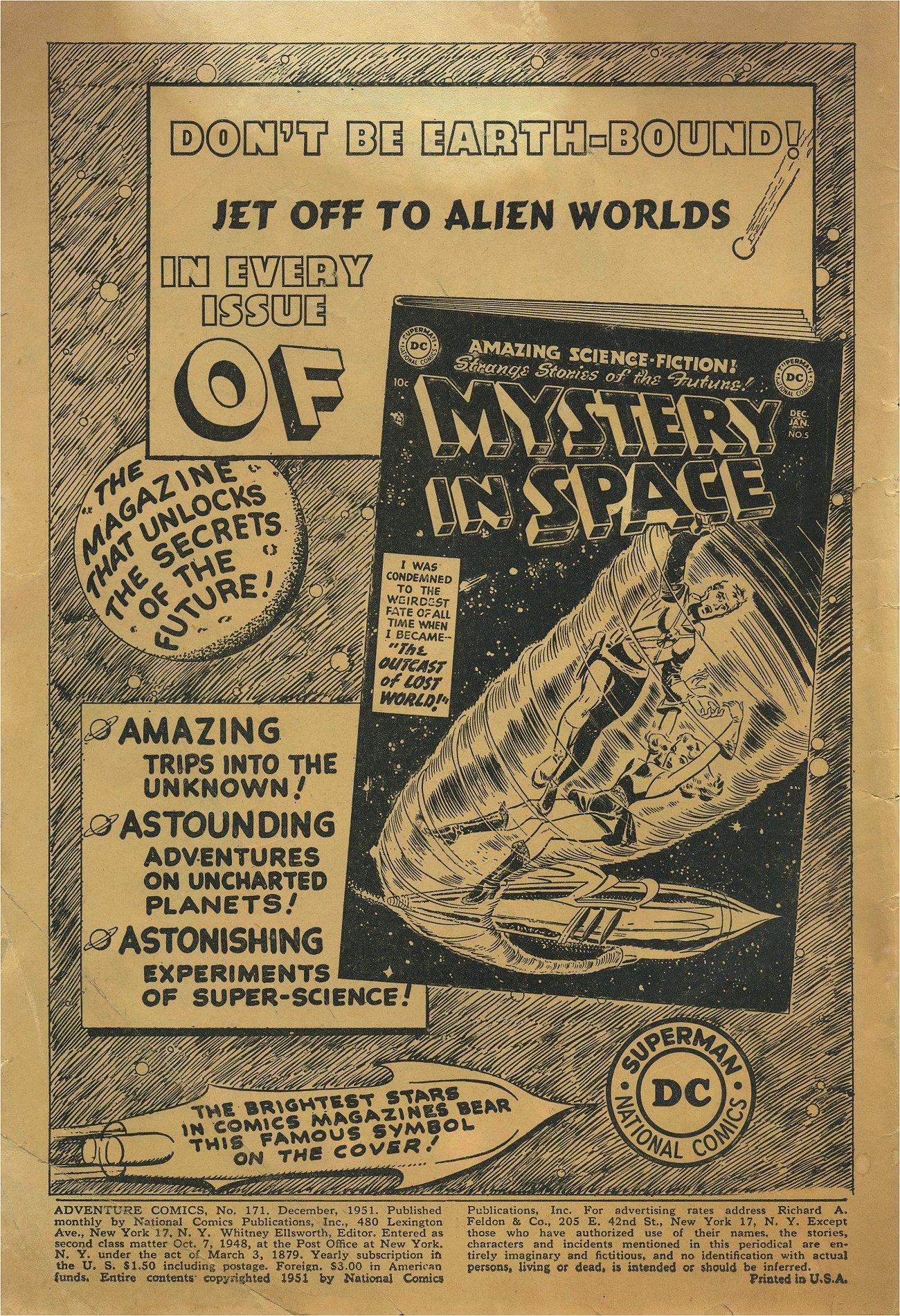 Read online Adventure Comics (1938) comic -  Issue #171 - 2