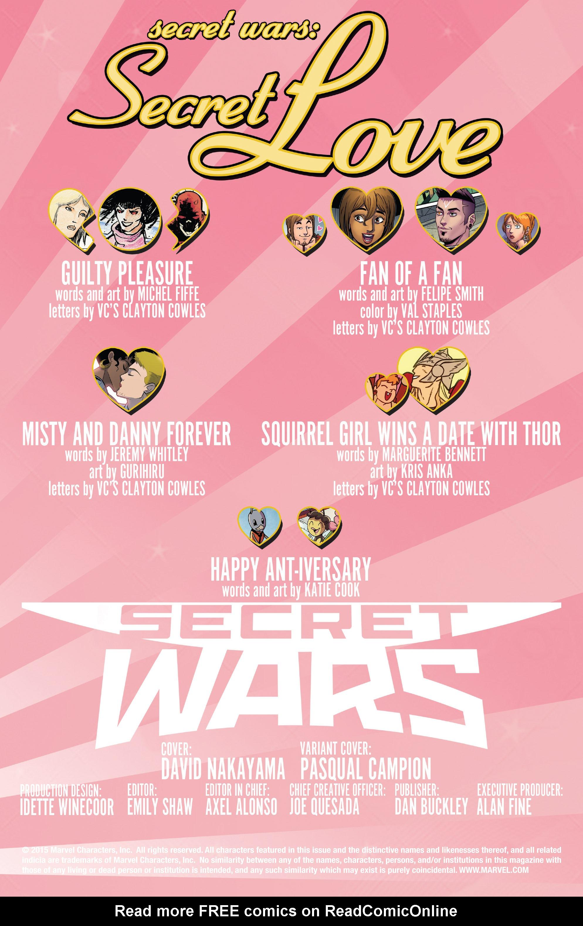 Read online Secret Wars: Secret Love comic -  Issue # Full - 2