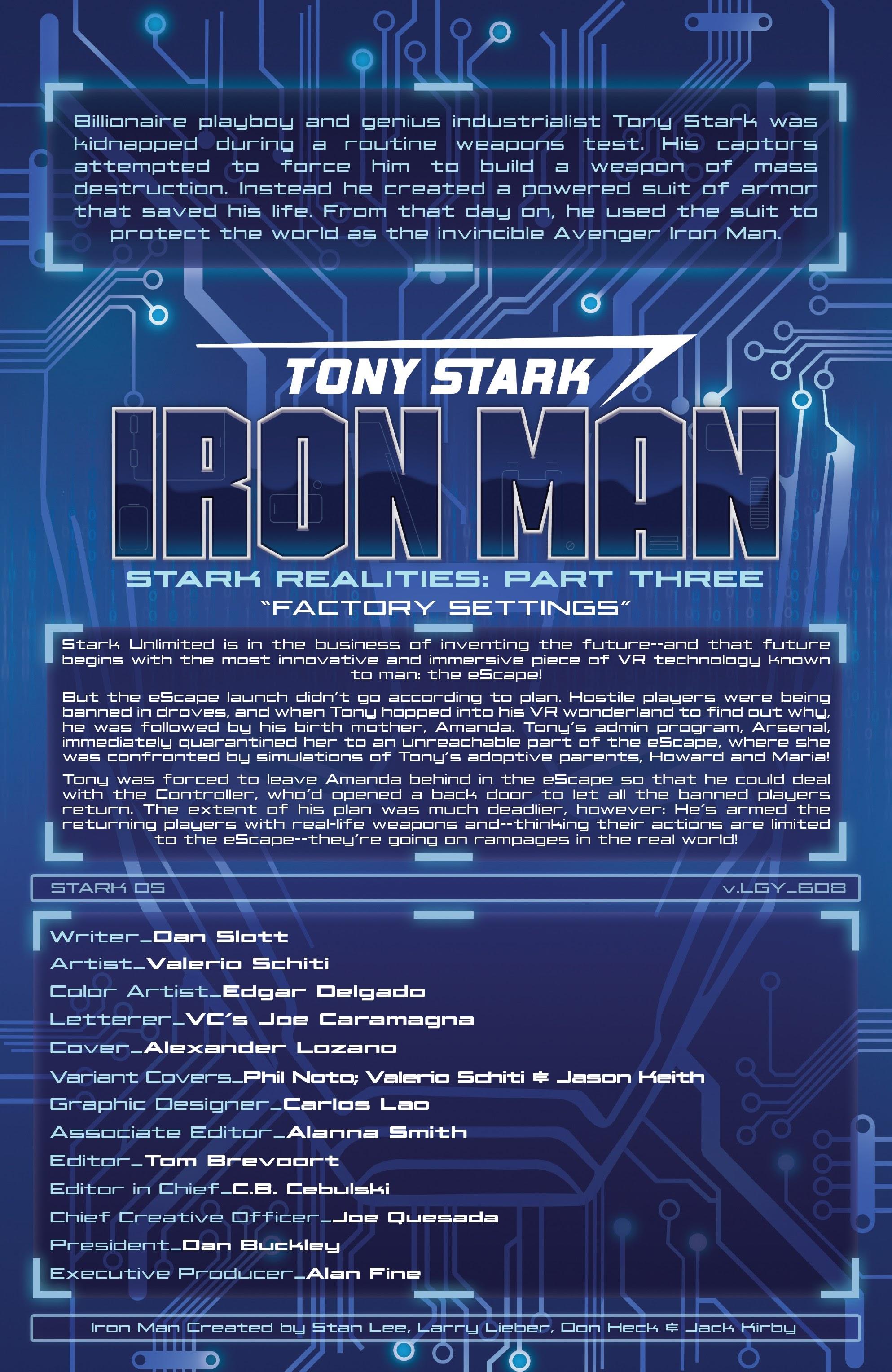 Read online Tony Stark: Iron Man comic -  Issue #8 - 2