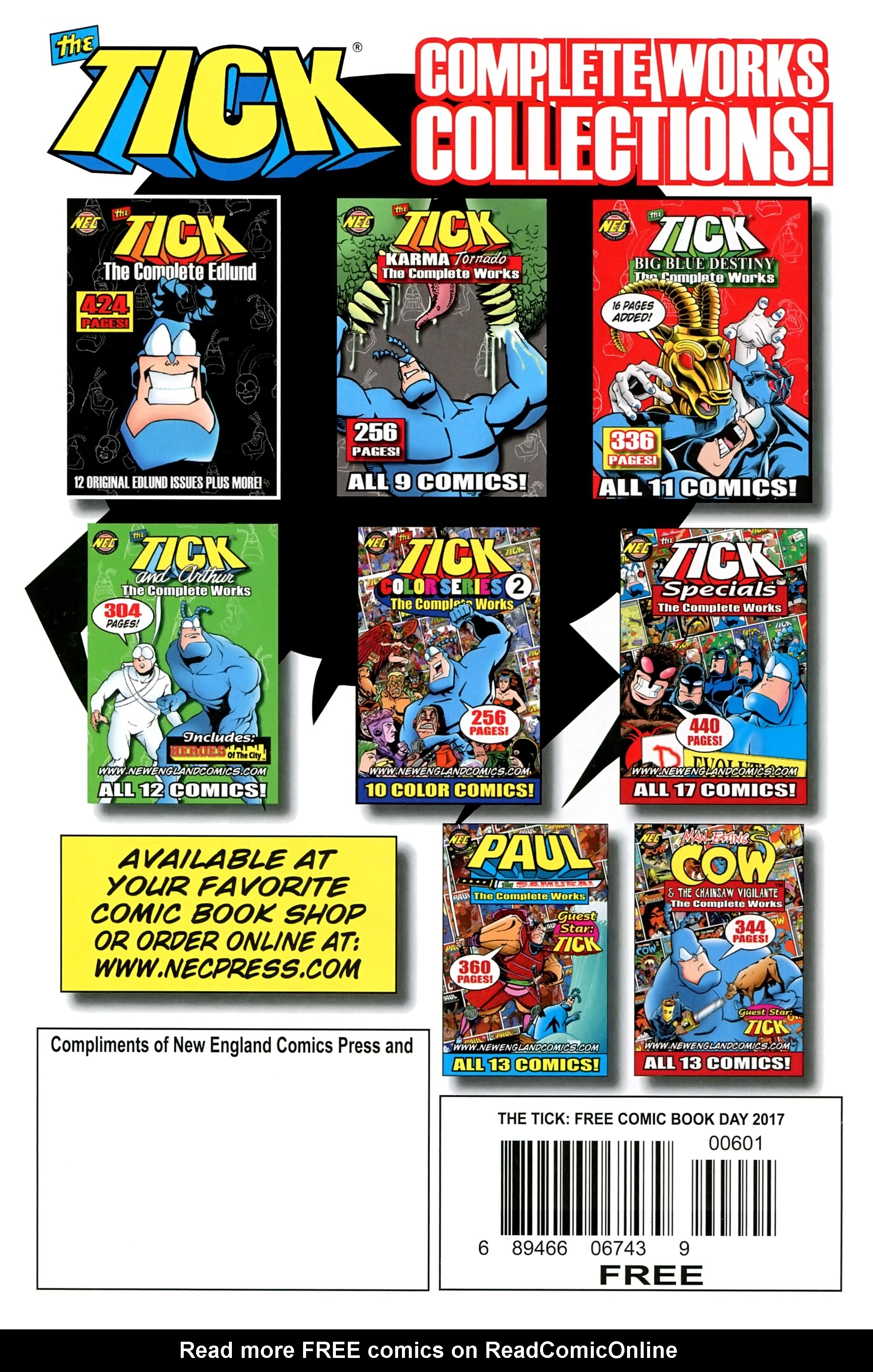Read online Free Comic Book Day 2017 comic -  Issue # The Tick - 32