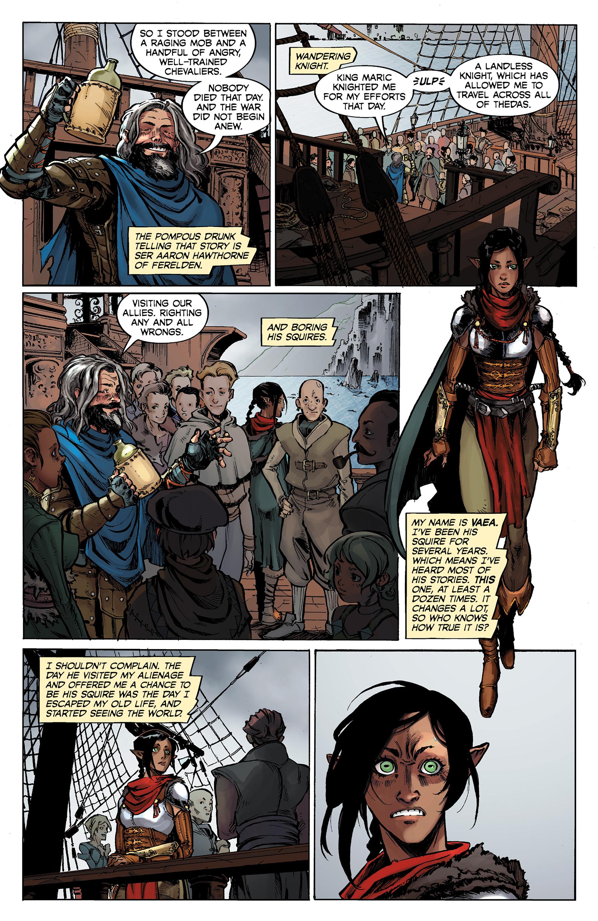 Read online Dragon Age: Knight Errant comic -  Issue #1 - 5