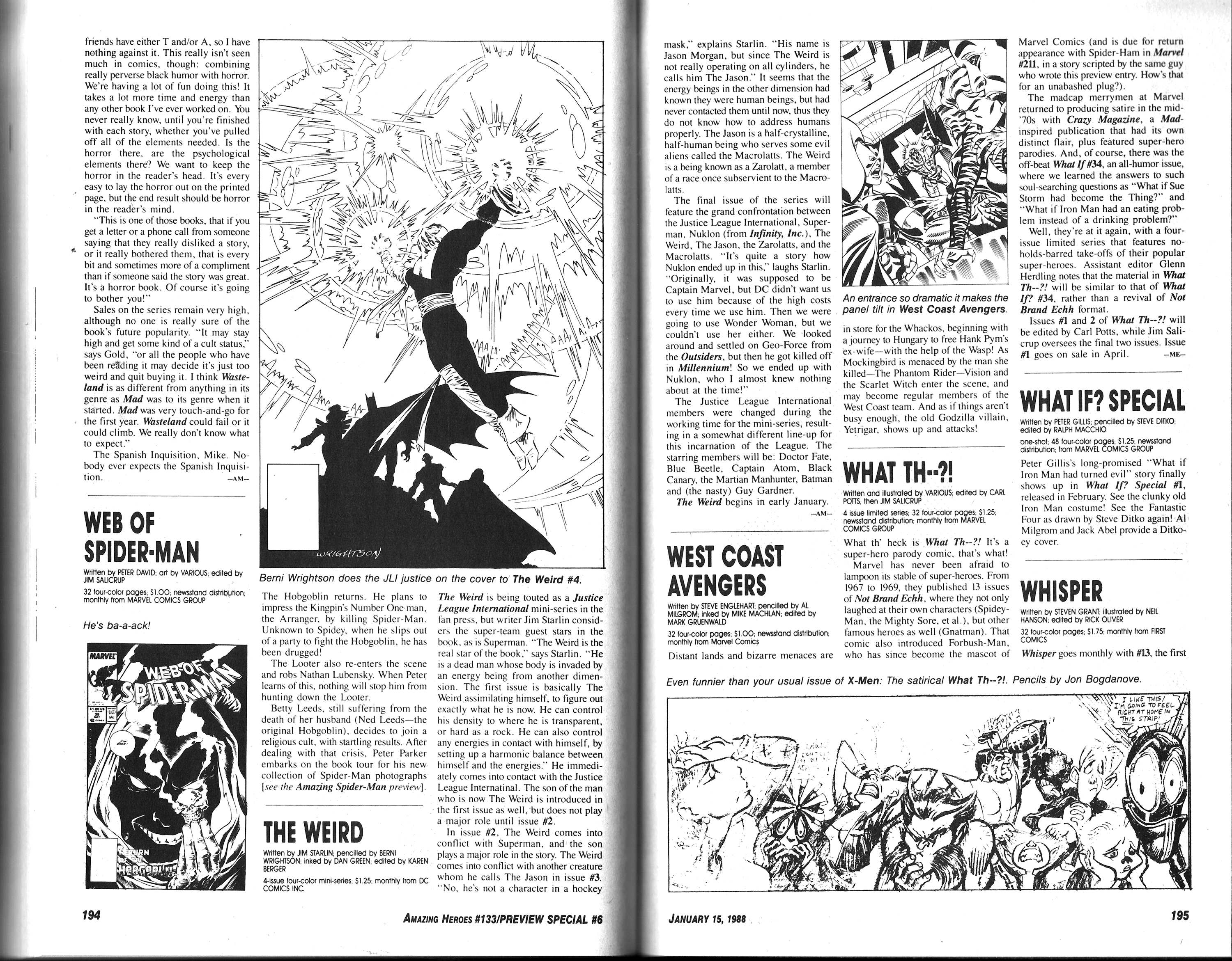 Read online Amazing Heroes comic -  Issue #133 - 99