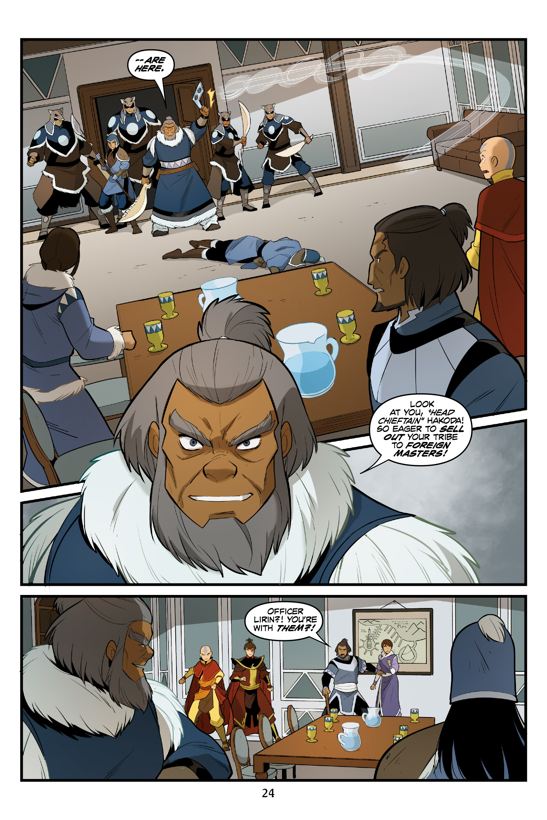 Read online Nickelodeon Avatar: The Last Airbender - North and South comic -  Issue #3 - 25