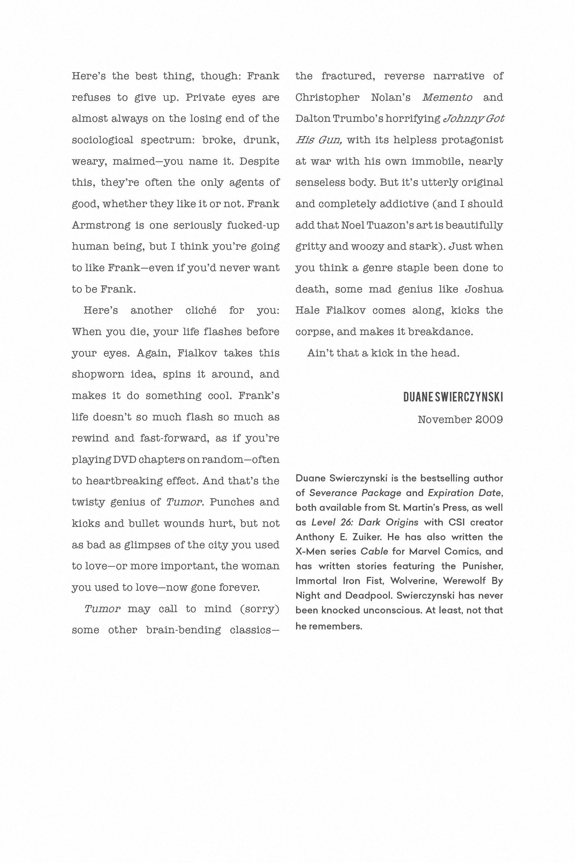 Read online Tumor comic -  Issue # TPB - 8