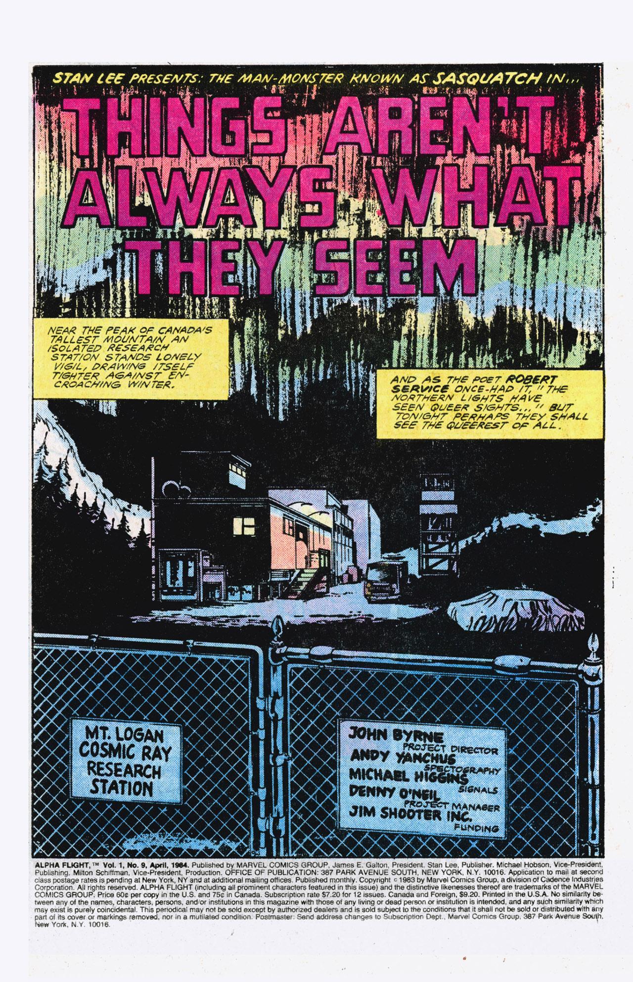 Read online Alpha Flight (1983) comic -  Issue #9 - 2