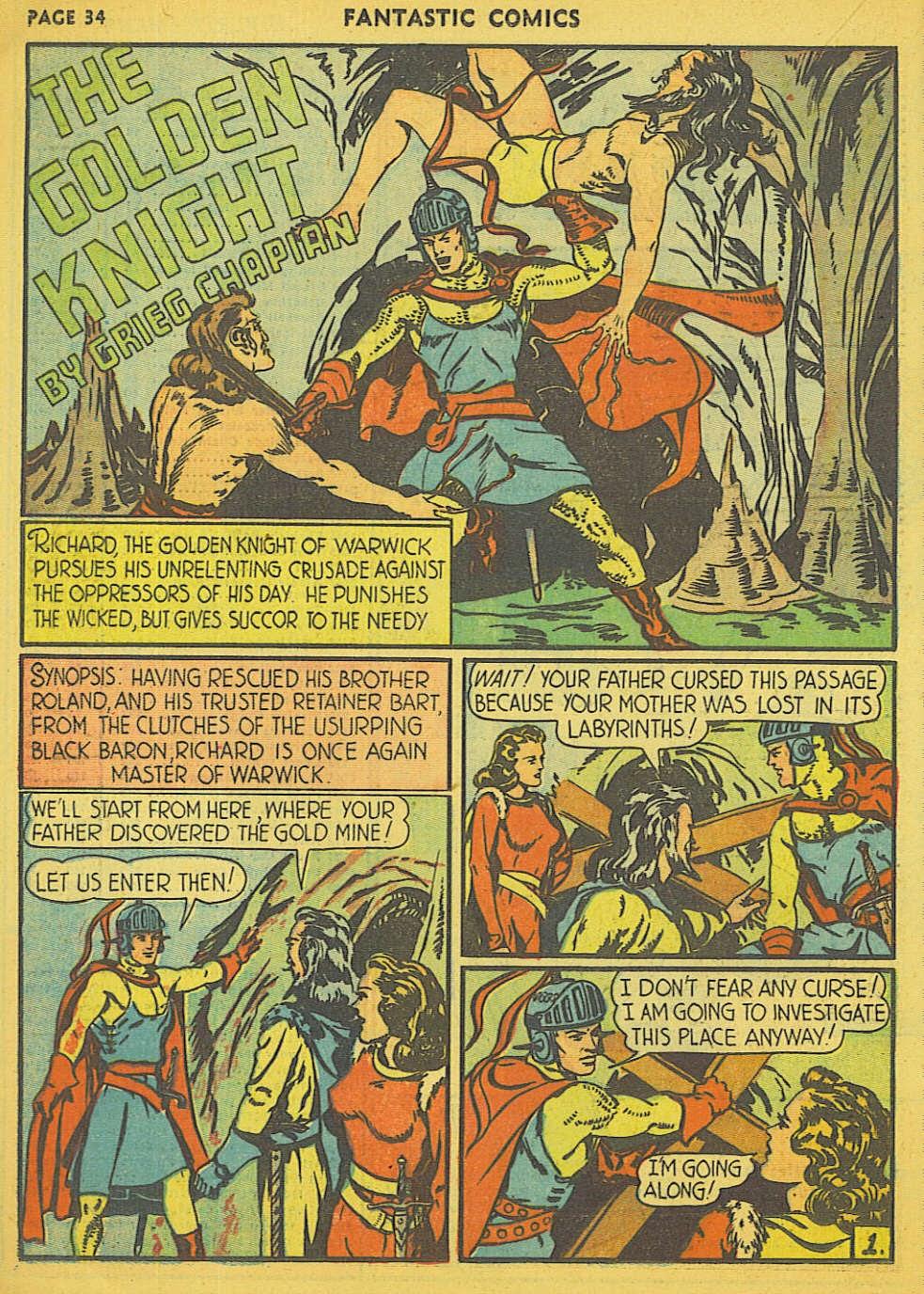 Read online Fantastic Comics comic -  Issue #15 - 27