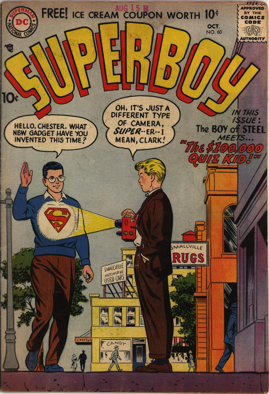 Superboy (1949) issue 60 - Page 1