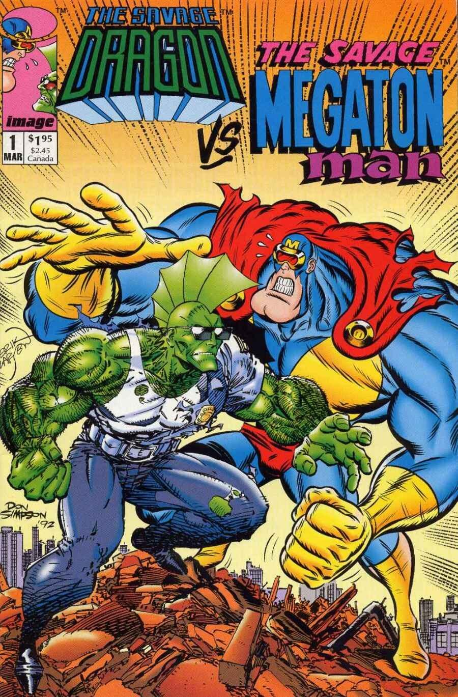 Savage Dragon vs. Savage Megaton Man Full Page 1