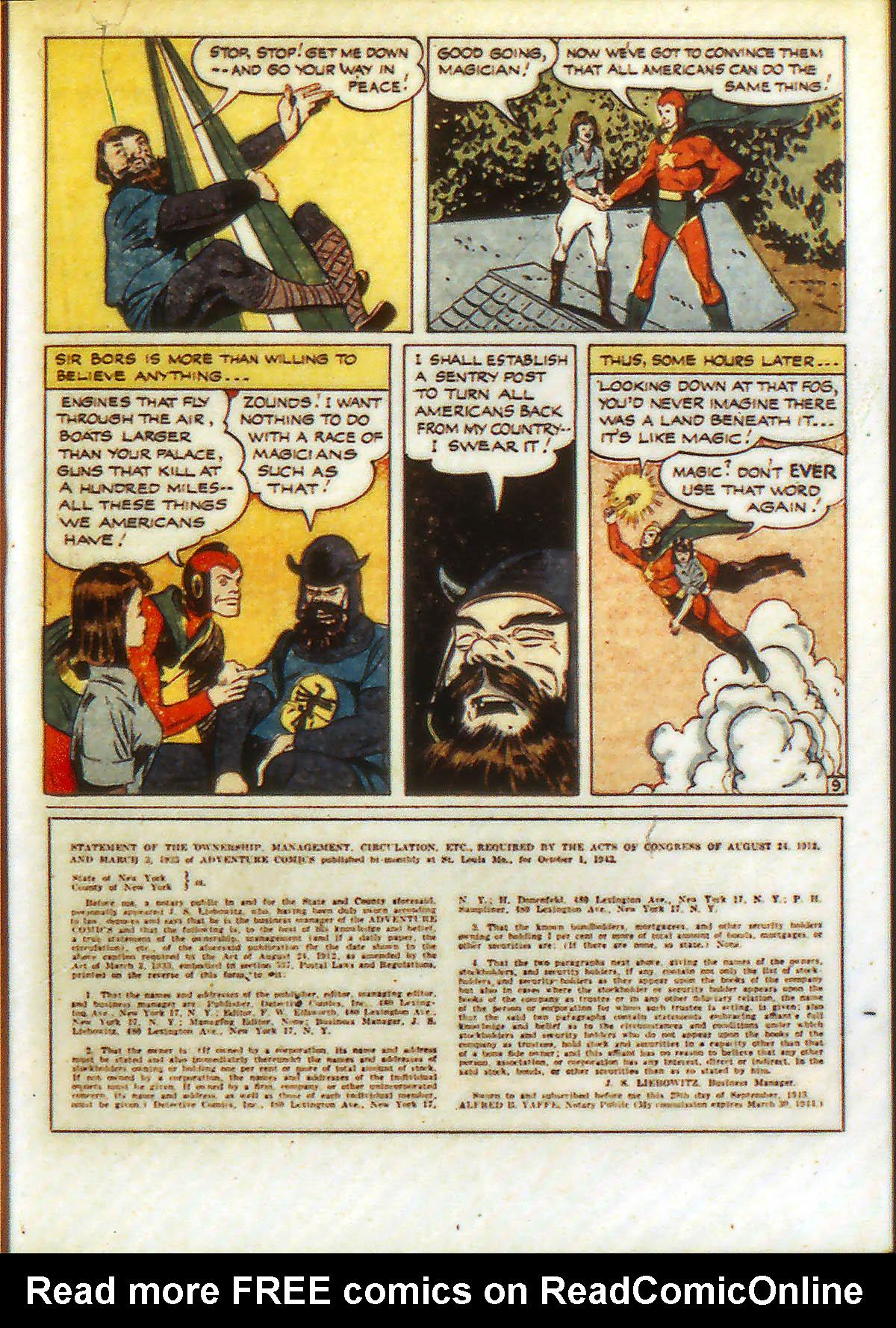 Read online Adventure Comics (1938) comic -  Issue #90 - 37