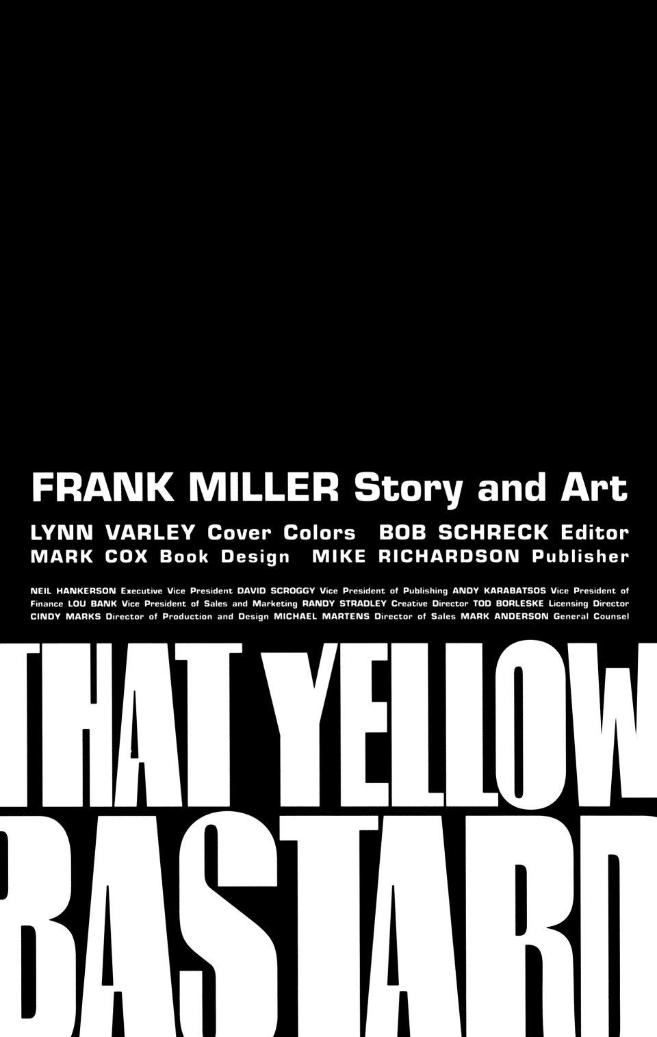 Read online Sin City: That Yellow Bastard comic -  Issue #6 - 12