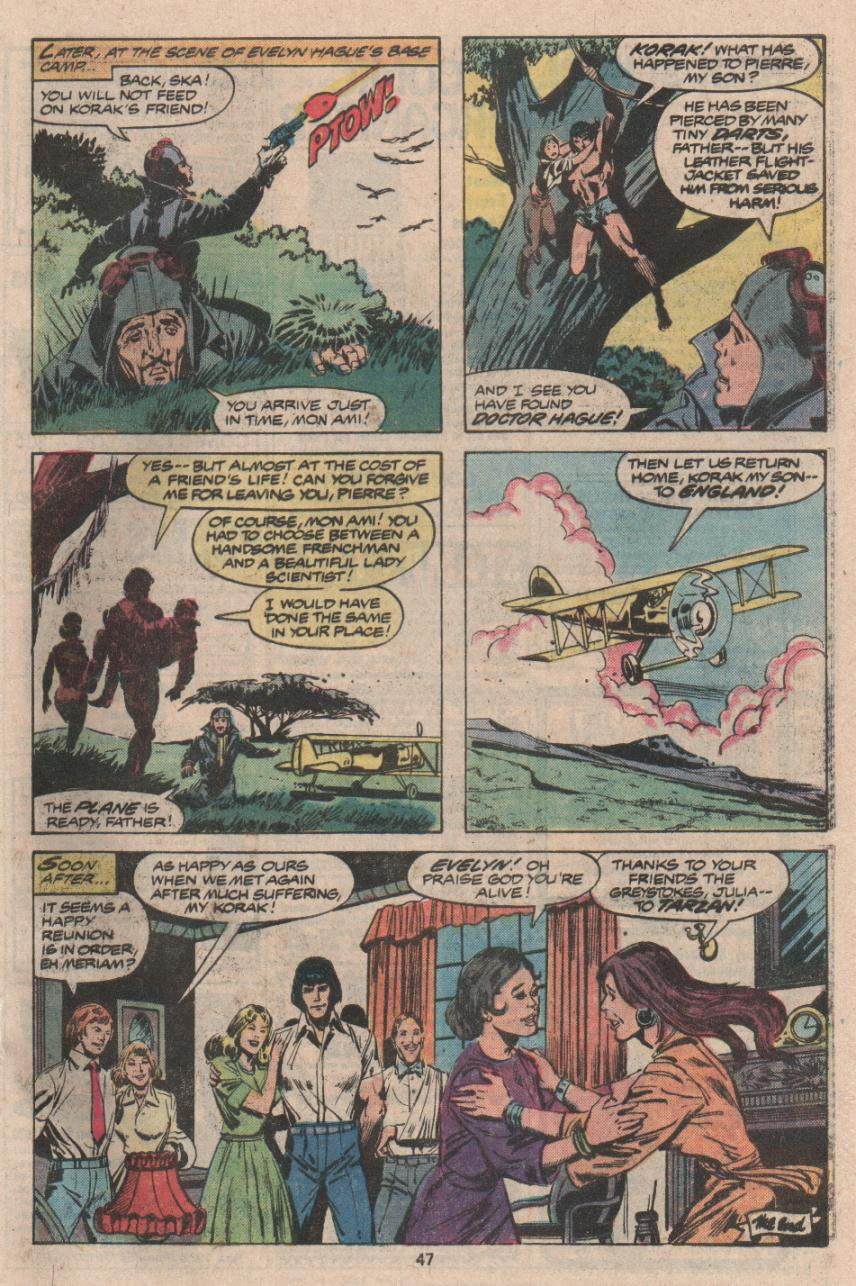 Read online Tarzan (1977) comic -  Issue # _Annual 3 - 36