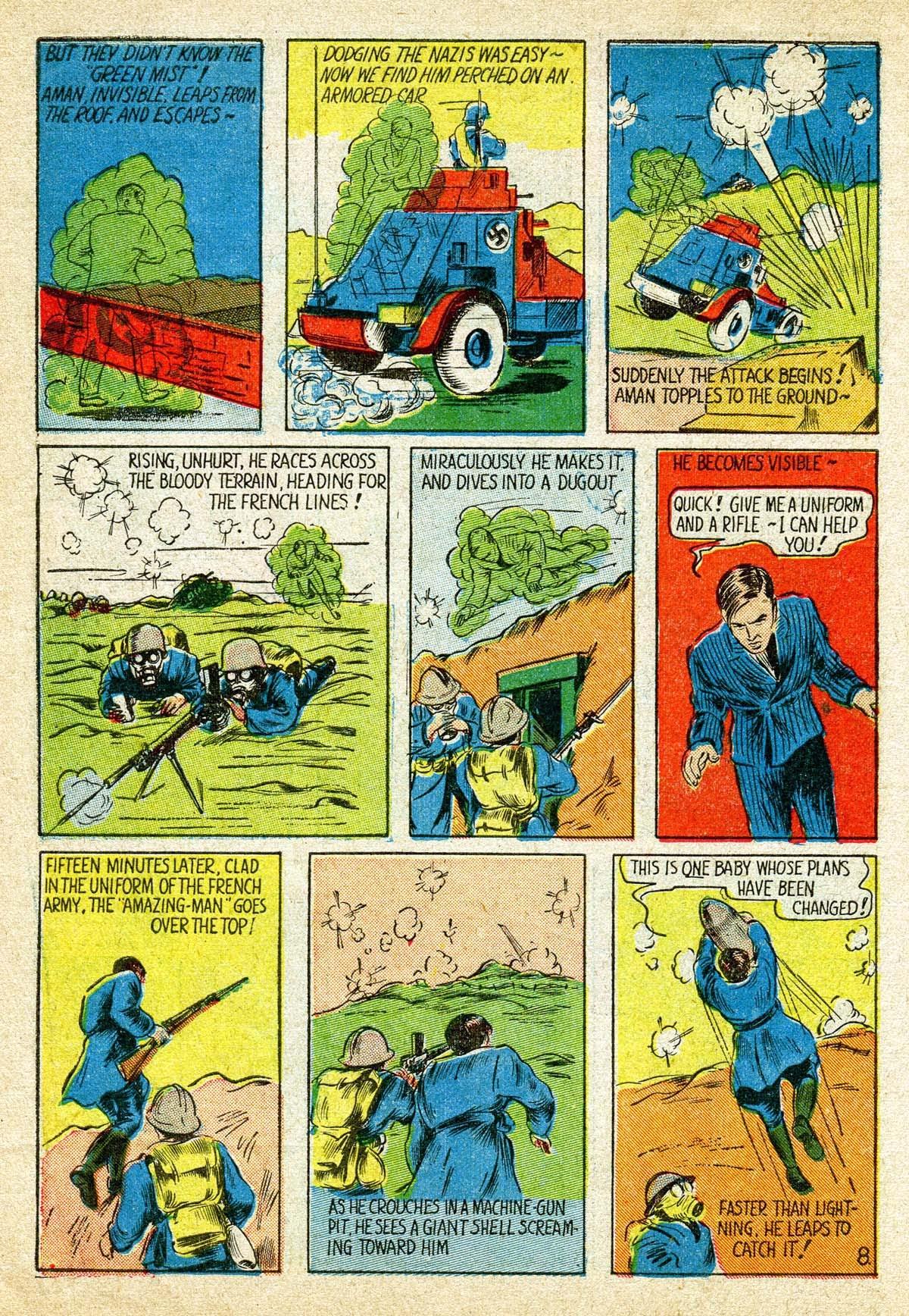 Read online Amazing Man Comics comic -  Issue #8 - 10