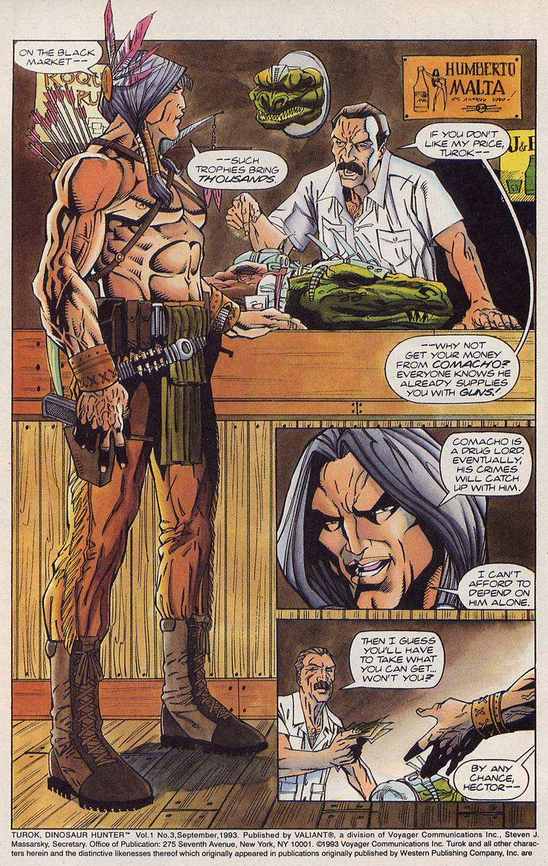 Read online Turok, Dinosaur Hunter (1993) comic -  Issue #3 - 3