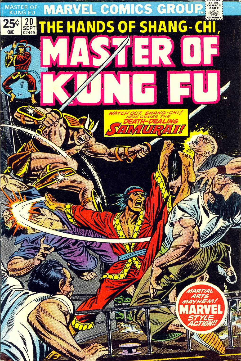 Master of Kung Fu (1974) issue 20 - Page 1