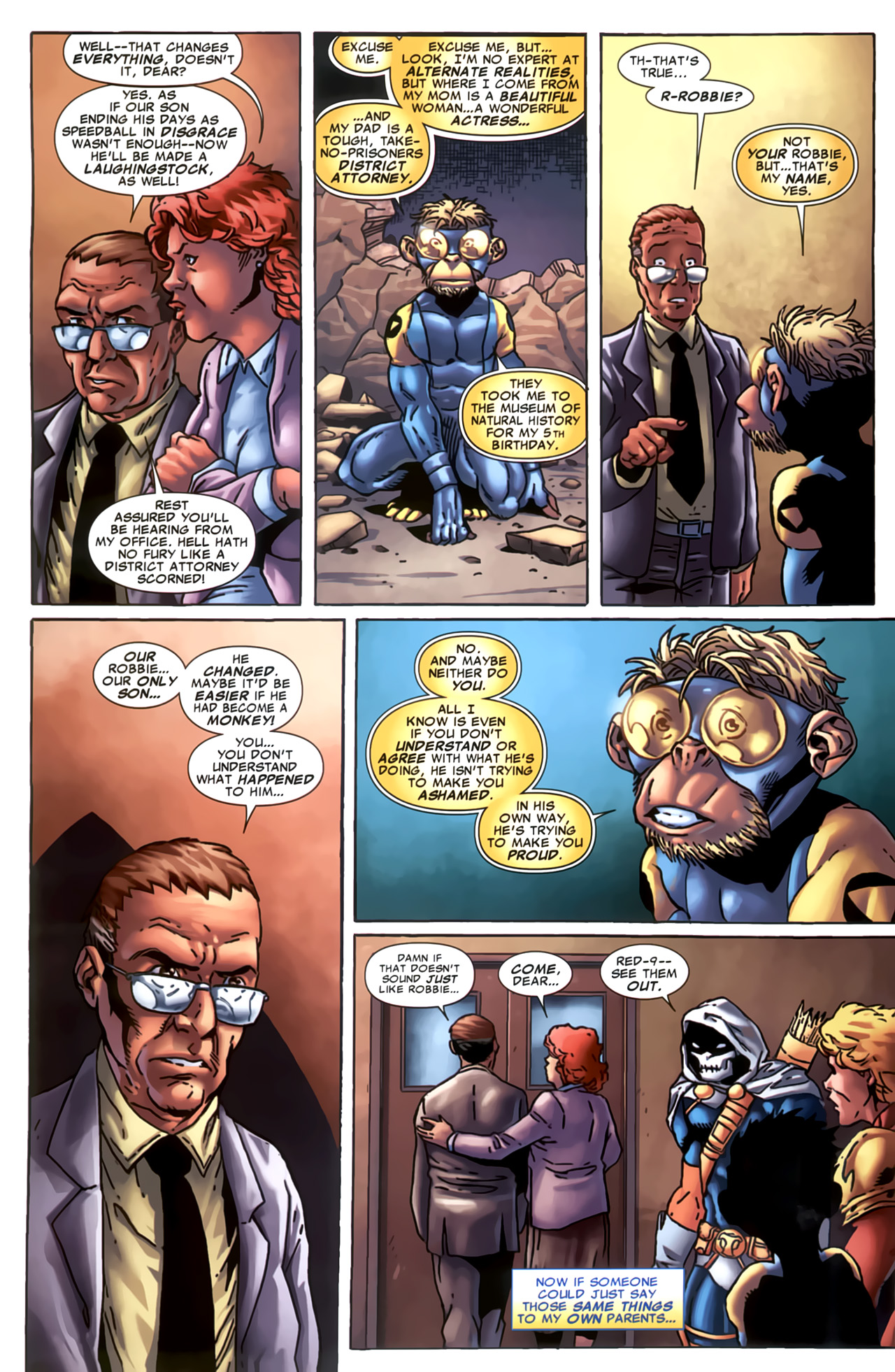 Read online Marvel Apes: Speedball Special comic -  Issue # Full - 12