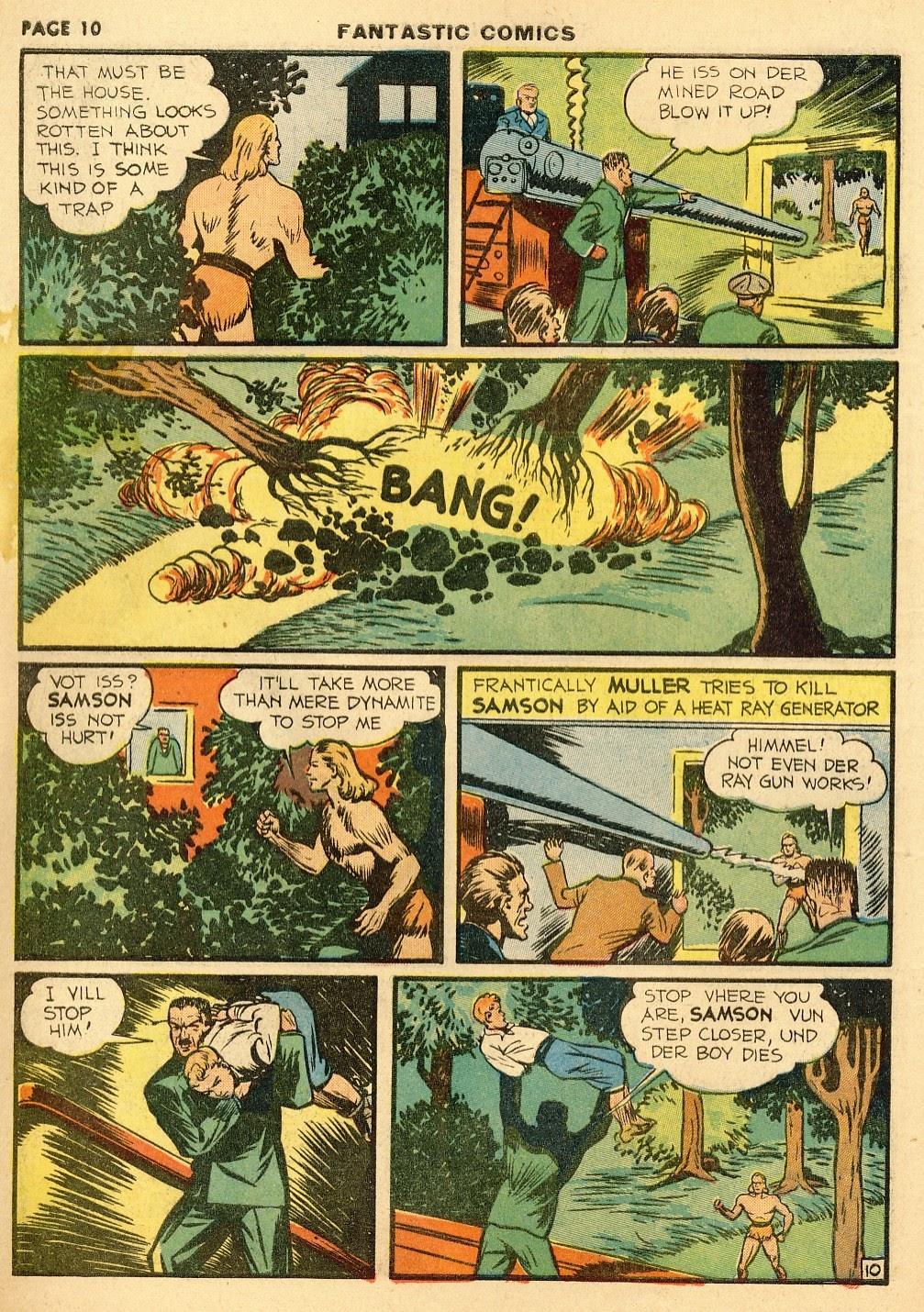 Read online Fantastic Comics comic -  Issue #10 - 11