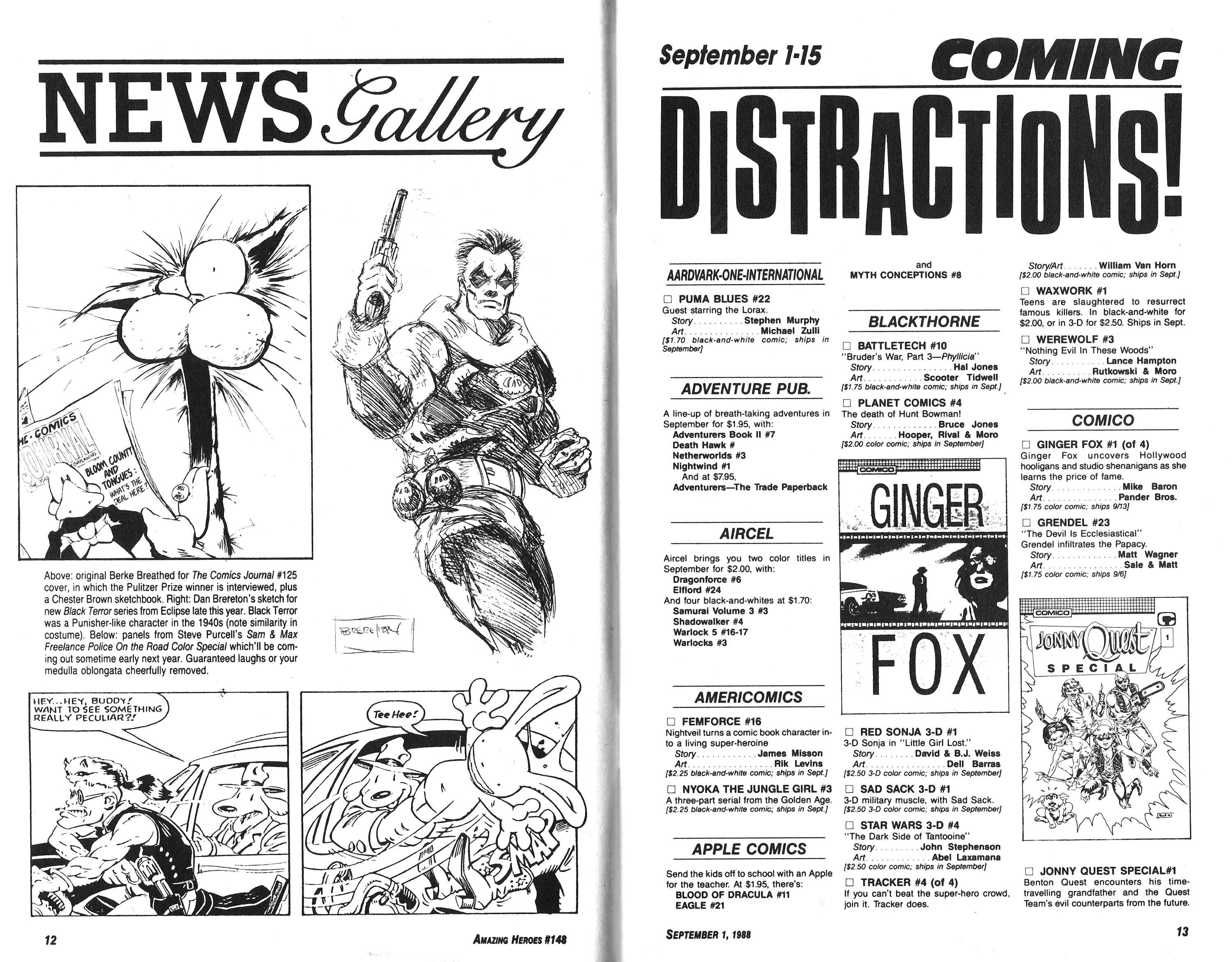 Read online Amazing Heroes comic -  Issue #148 - 7