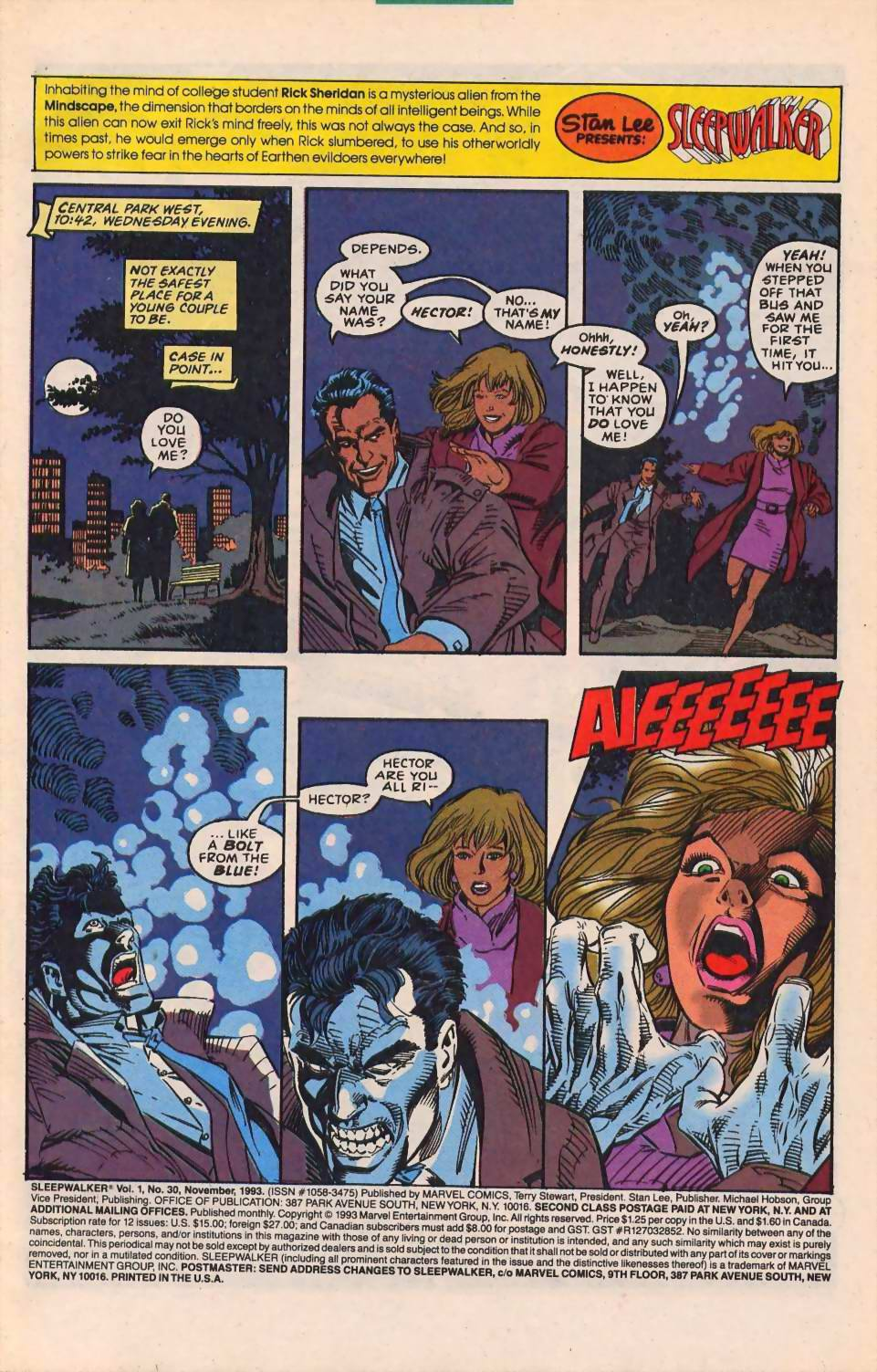 Read online Sleepwalker comic -  Issue #30 - 2