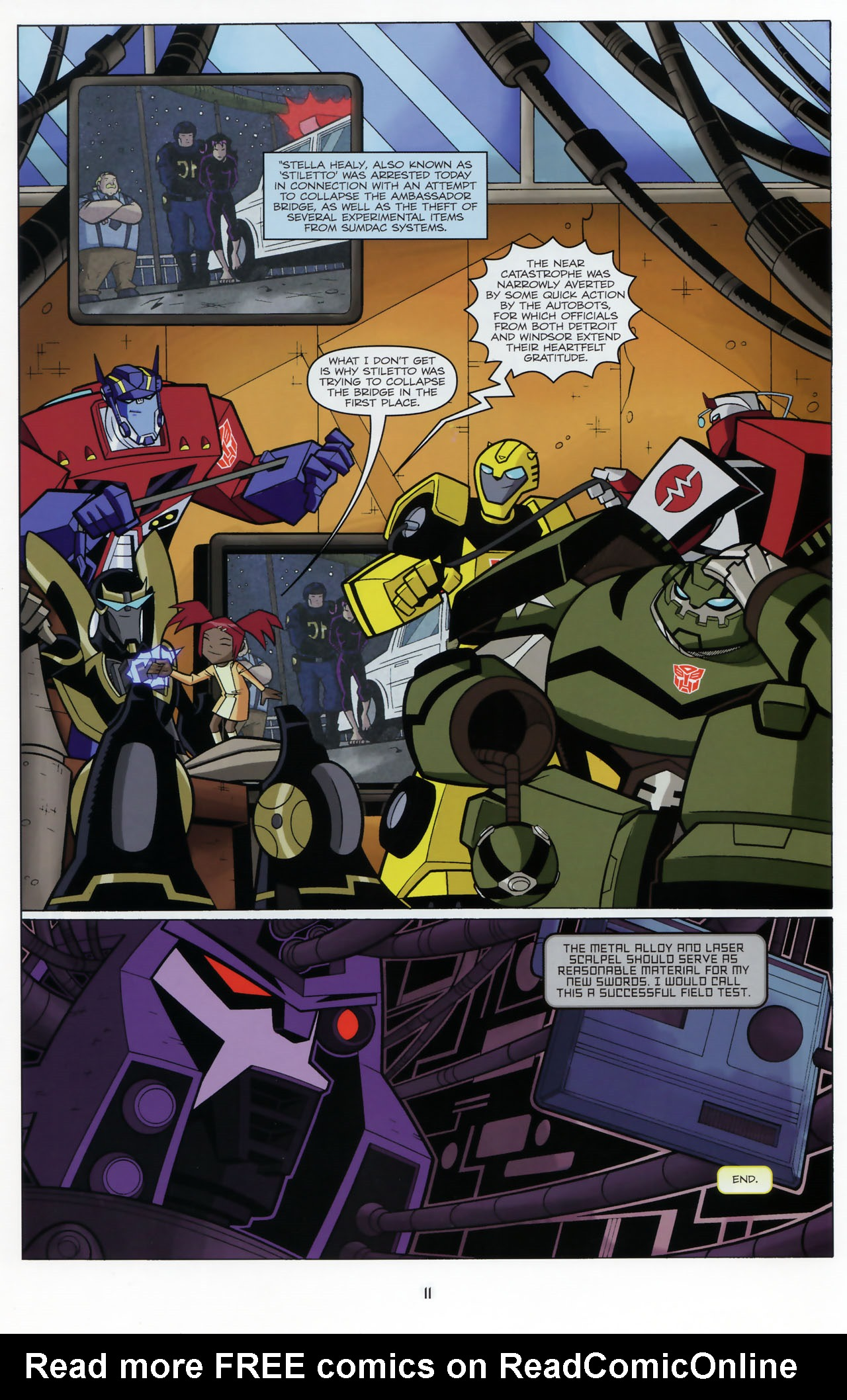 Read online Transformers Animated: The Arrival comic -  Issue #3 - 13