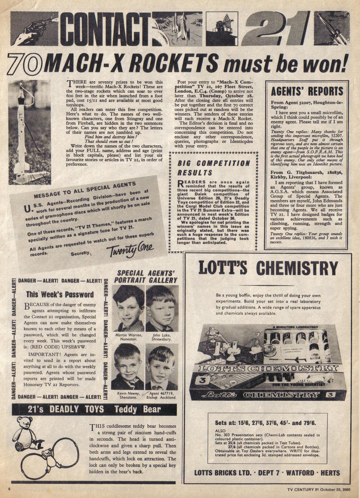 Read online TV Century 21 (TV 21) comic -  Issue #40 - 6