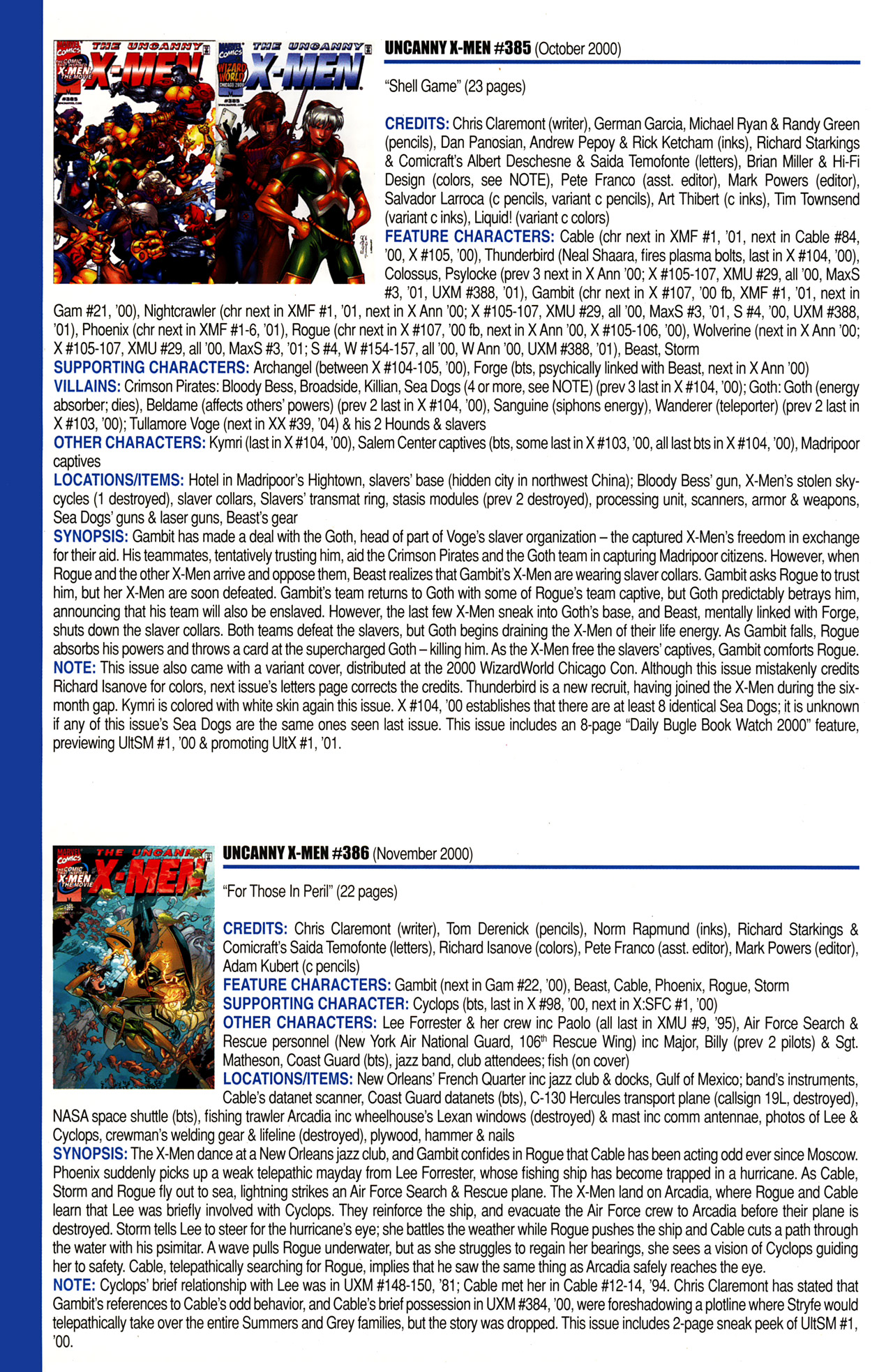 Read online Official Index to the Marvel Universe comic -  Issue #10 - 52