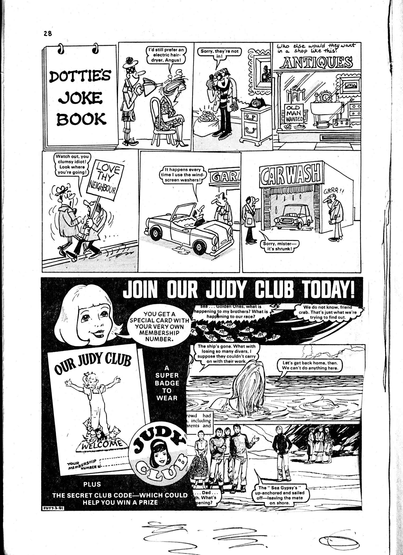 Read online Judy comic -  Issue #4 - 28