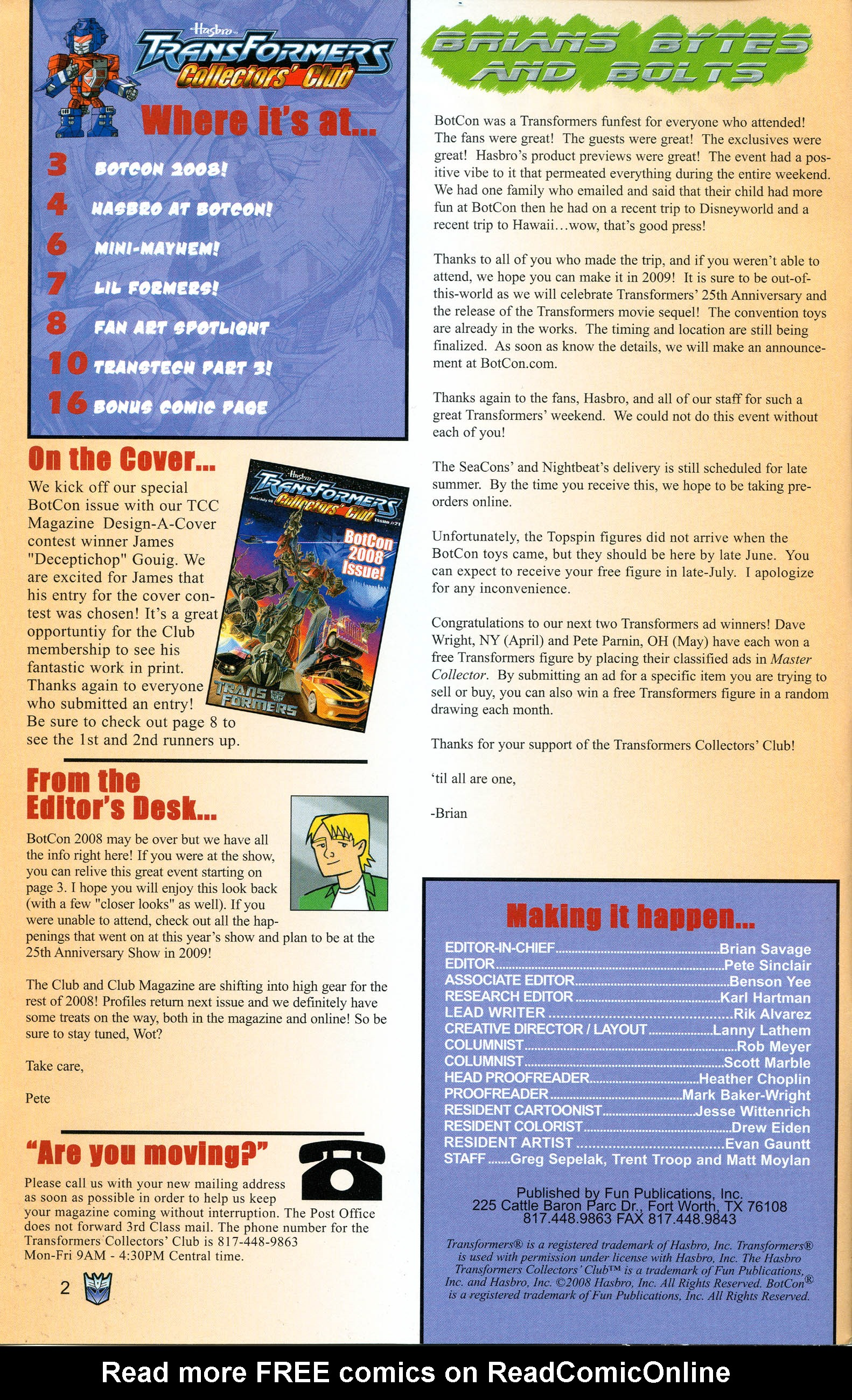 Read online Transformers: Collectors' Club comic -  Issue #21 - 2