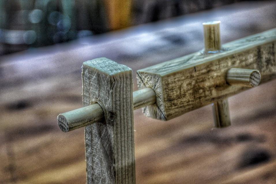 Árbol de levas de una maqueta de un martinete o martillo pilón