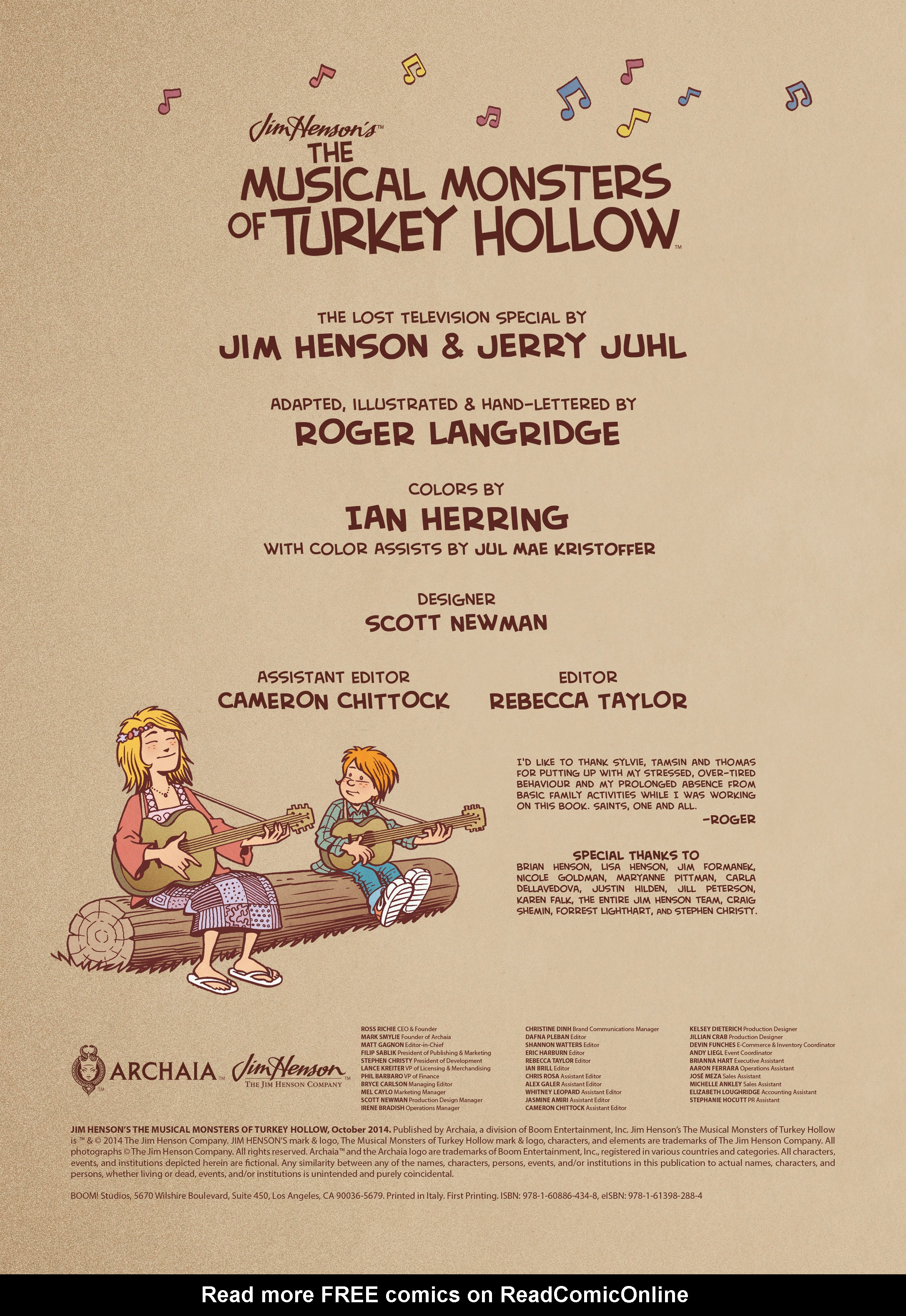 Read online Jim Henson's The Musical Monsters of Turkey Hollow comic -  Issue # Full - 5