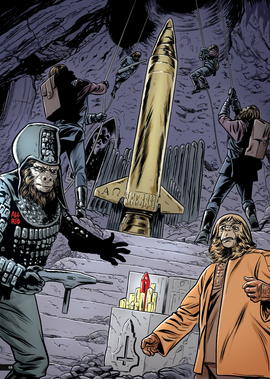 Read online Planet of the Apes Artist Tribute comic -  Issue # TPB - 68