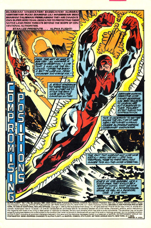 Read online Alpha Flight (1983) comic -  Issue #92 - 2