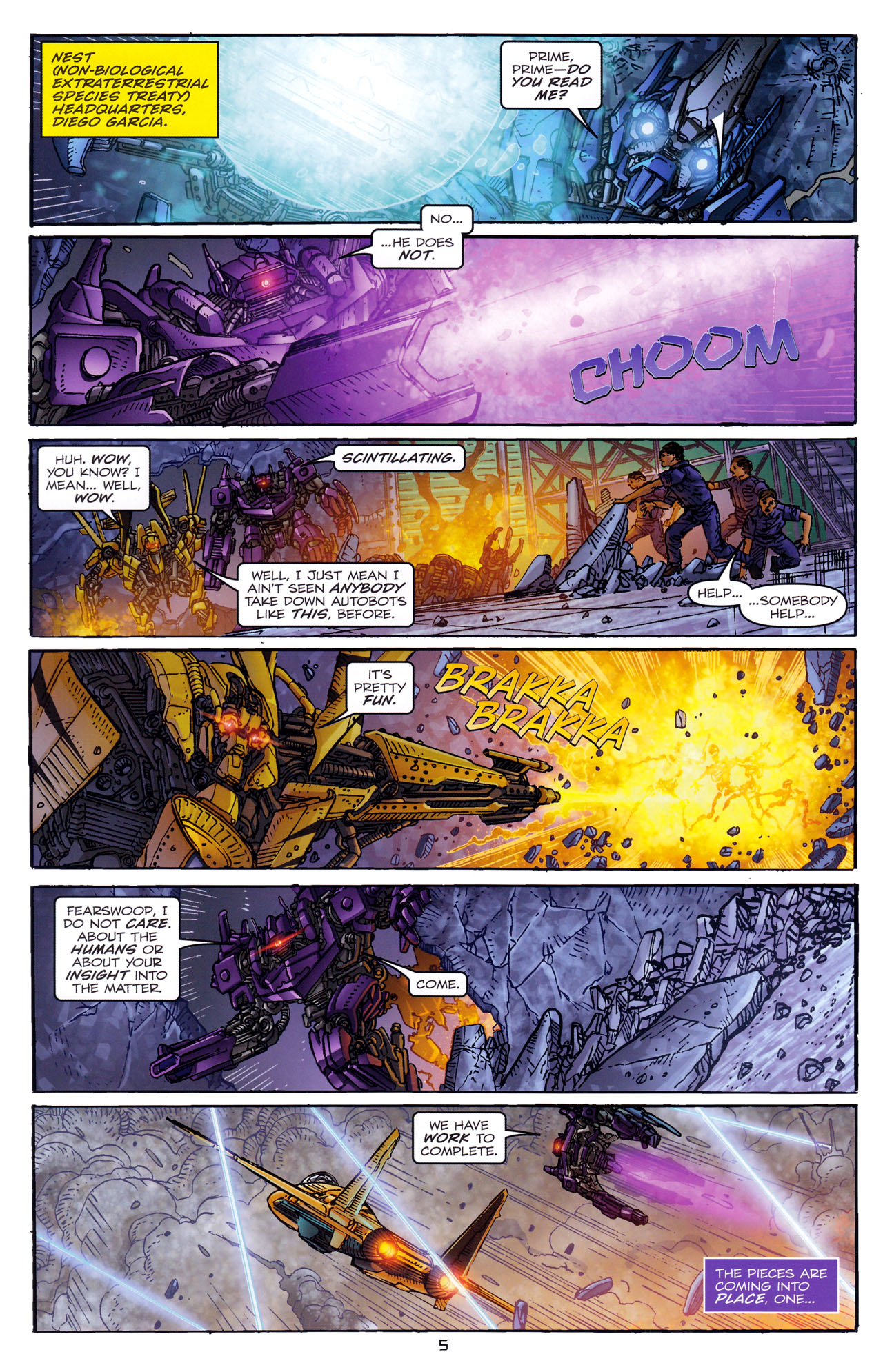 Read online Transformers: Dark of the Moon Rising Storm comic -  Issue #4 - 6