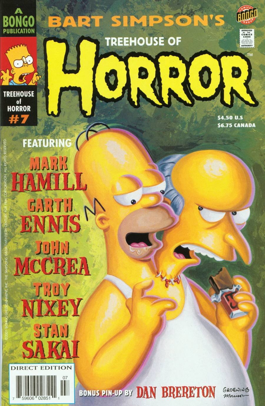 Read online Treehouse of Horror comic -  Issue #7 - 1