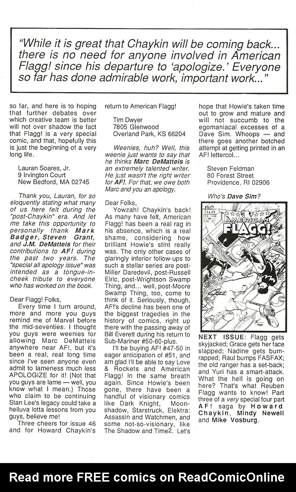Read online American Flagg! comic -  Issue #48 - 34