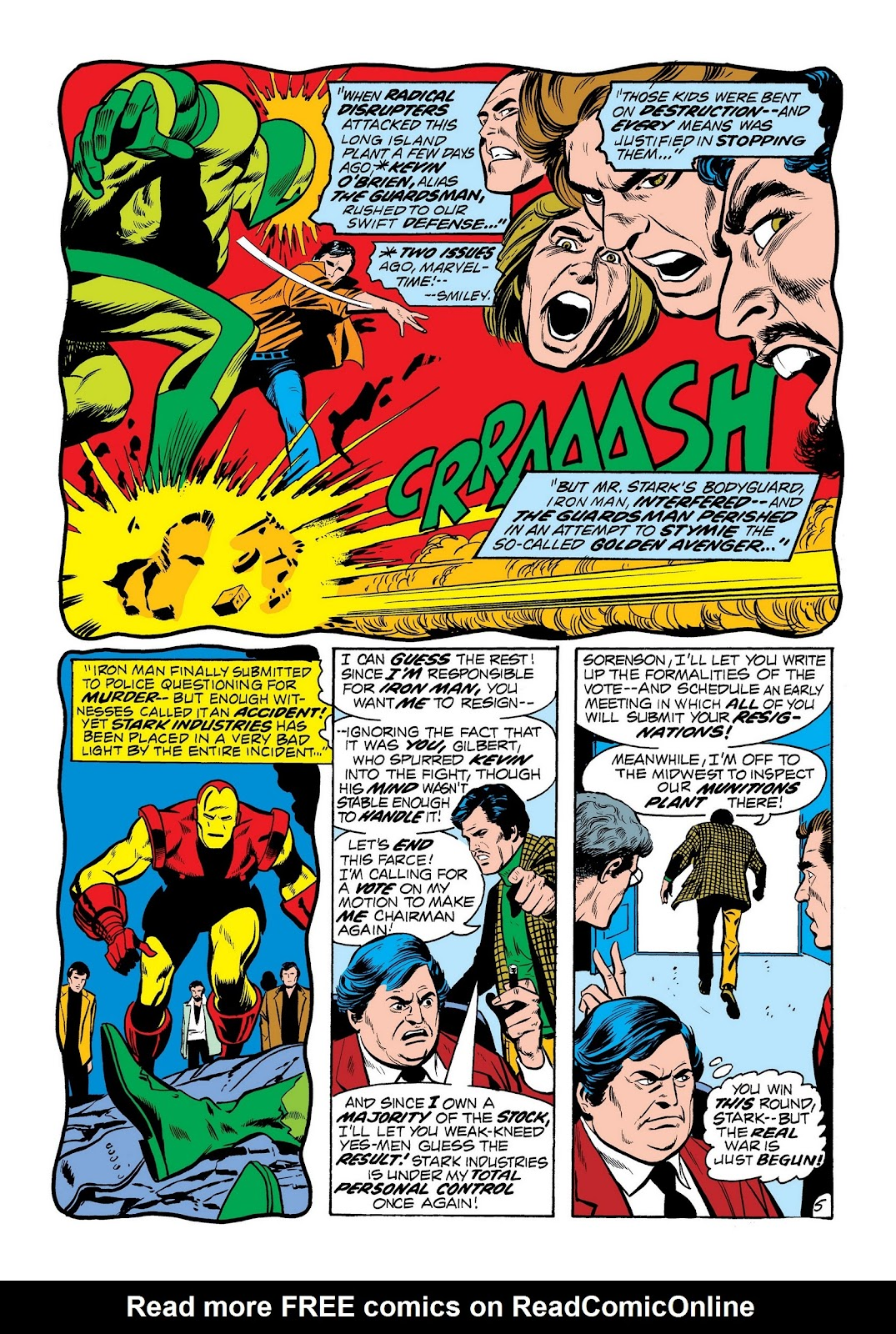 Read online Marvel Masterworks: The Invincible Iron Man comic -  Issue # TPB 8 (Part 2) - 93