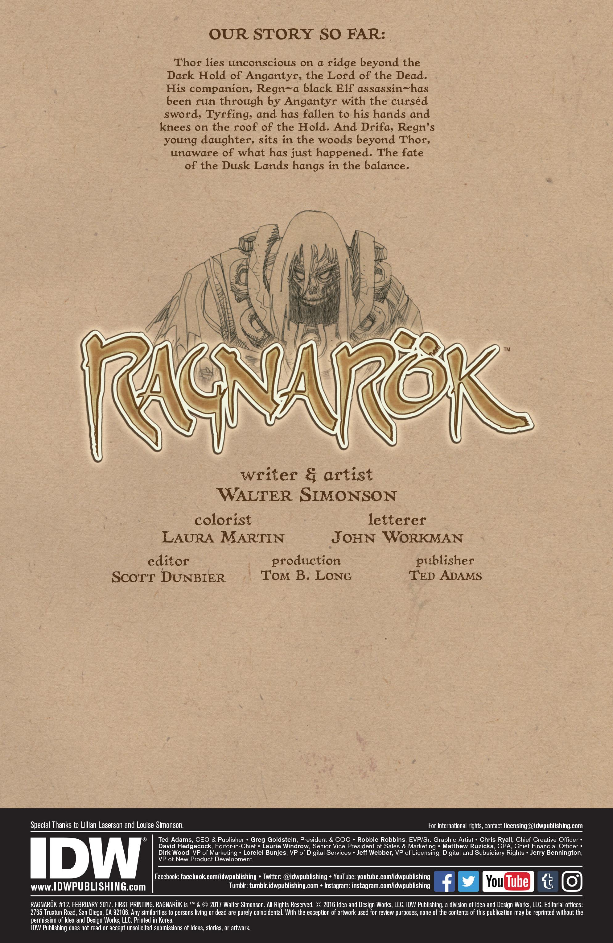 Read online Ragnarok comic -  Issue #12 - 2