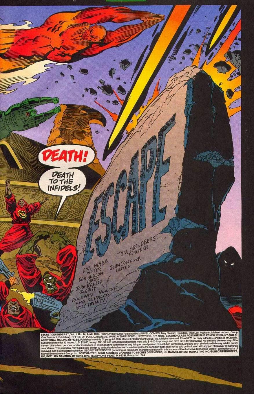 Read online Secret Defenders comic -  Issue #14 - 4