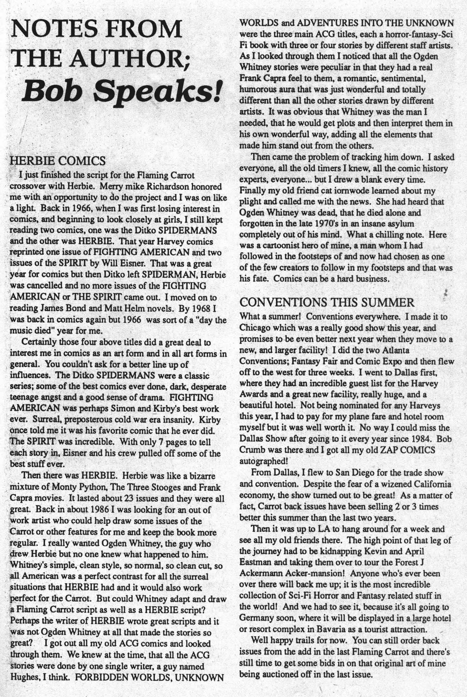 Read online Flaming Carrot Comics (1988) comic -  Issue #29 - 27