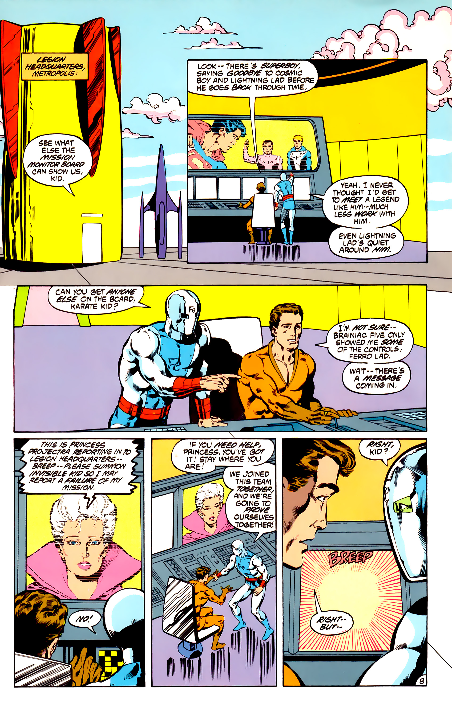 Legion of Super-Heroes (1984) 31 Page 8