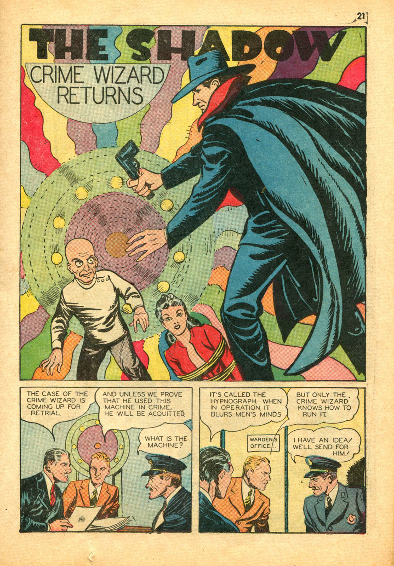 Read online Shadow Comics comic -  Issue #30 - 21