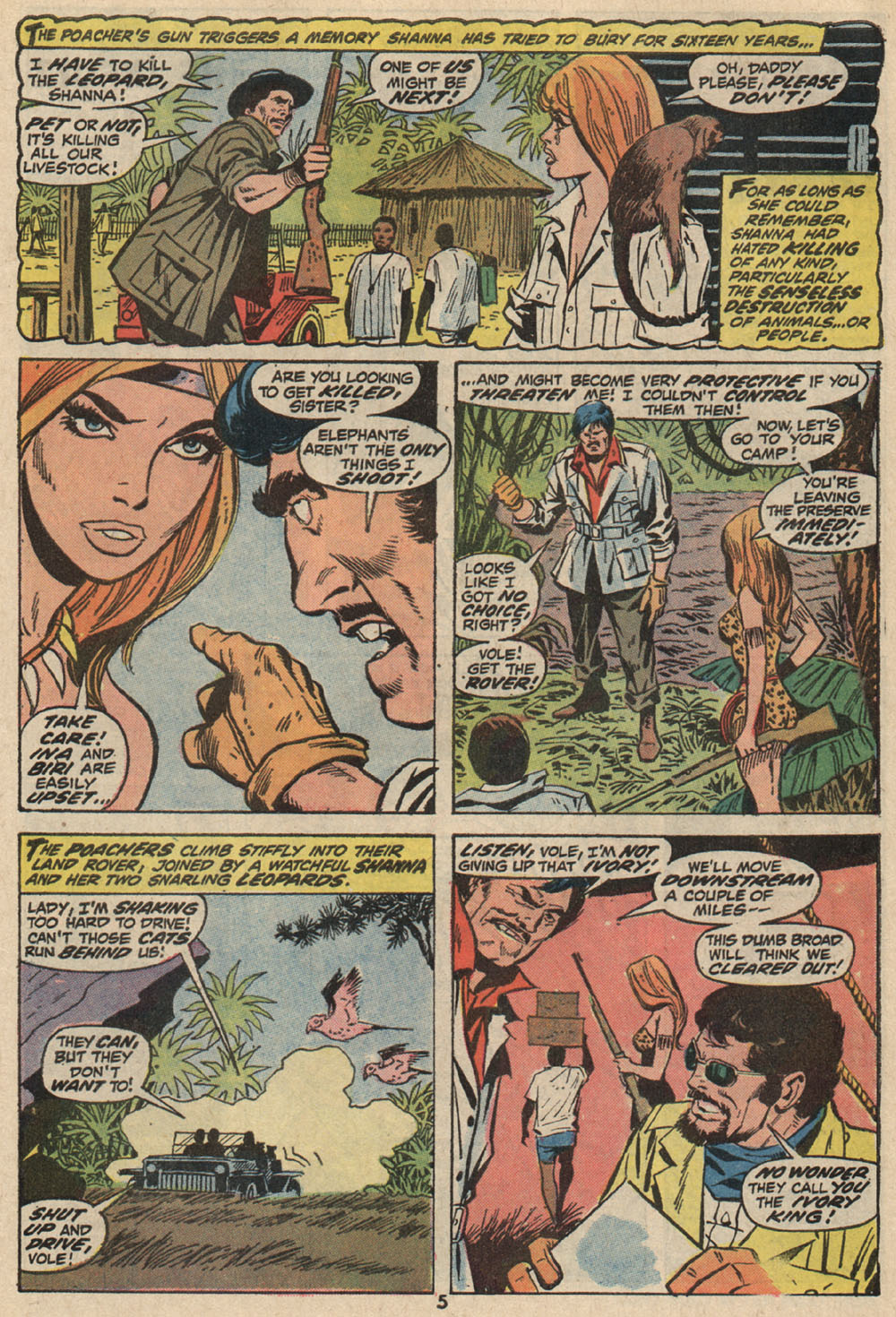 Read online Shanna, the She-Devil (1972) comic -  Issue #1 - 5