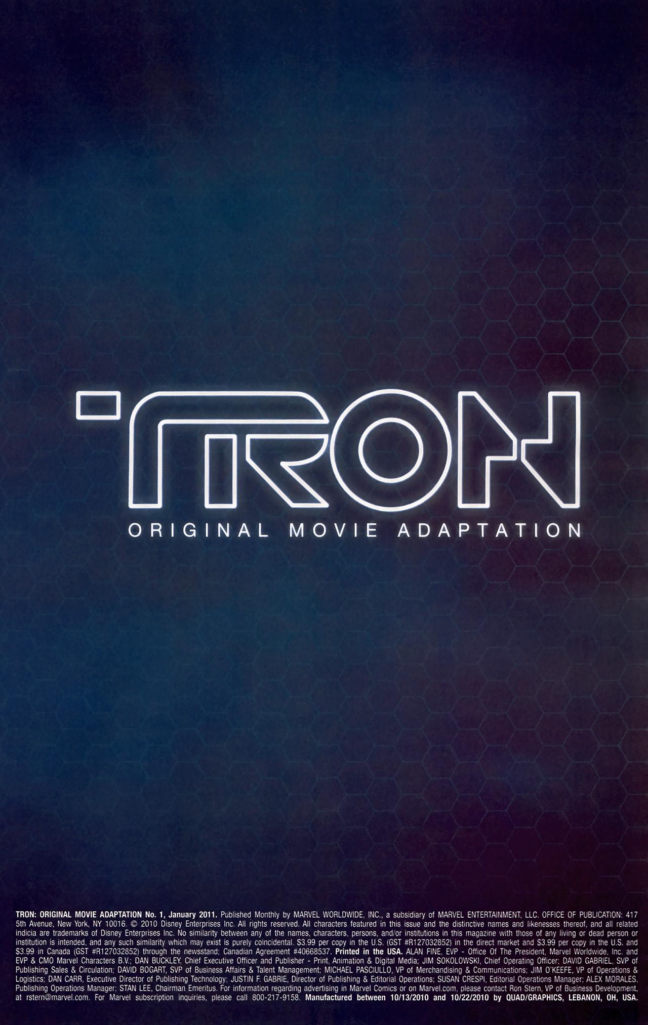 Read online TRON: Original Movie Adaptation comic -  Issue #1 - 3