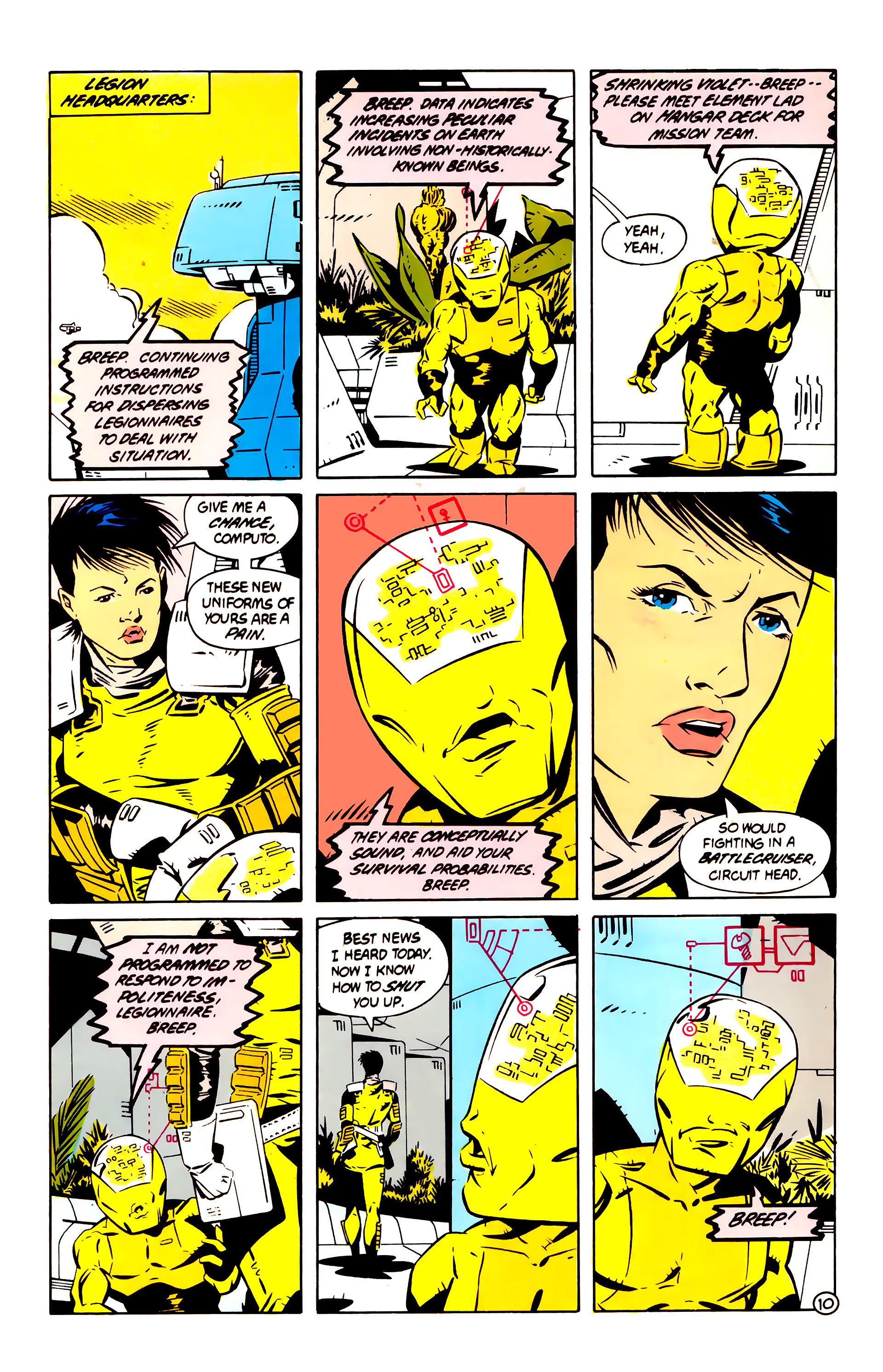 Legion of Super-Heroes (1984) 60 Page 10