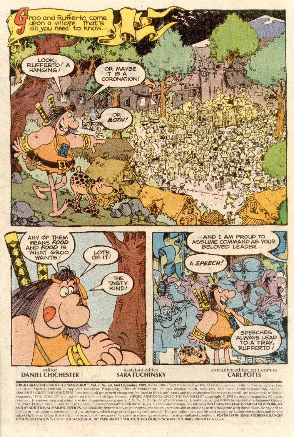 Read online Sergio Aragonés Groo the Wanderer comic -  Issue #60 - 2